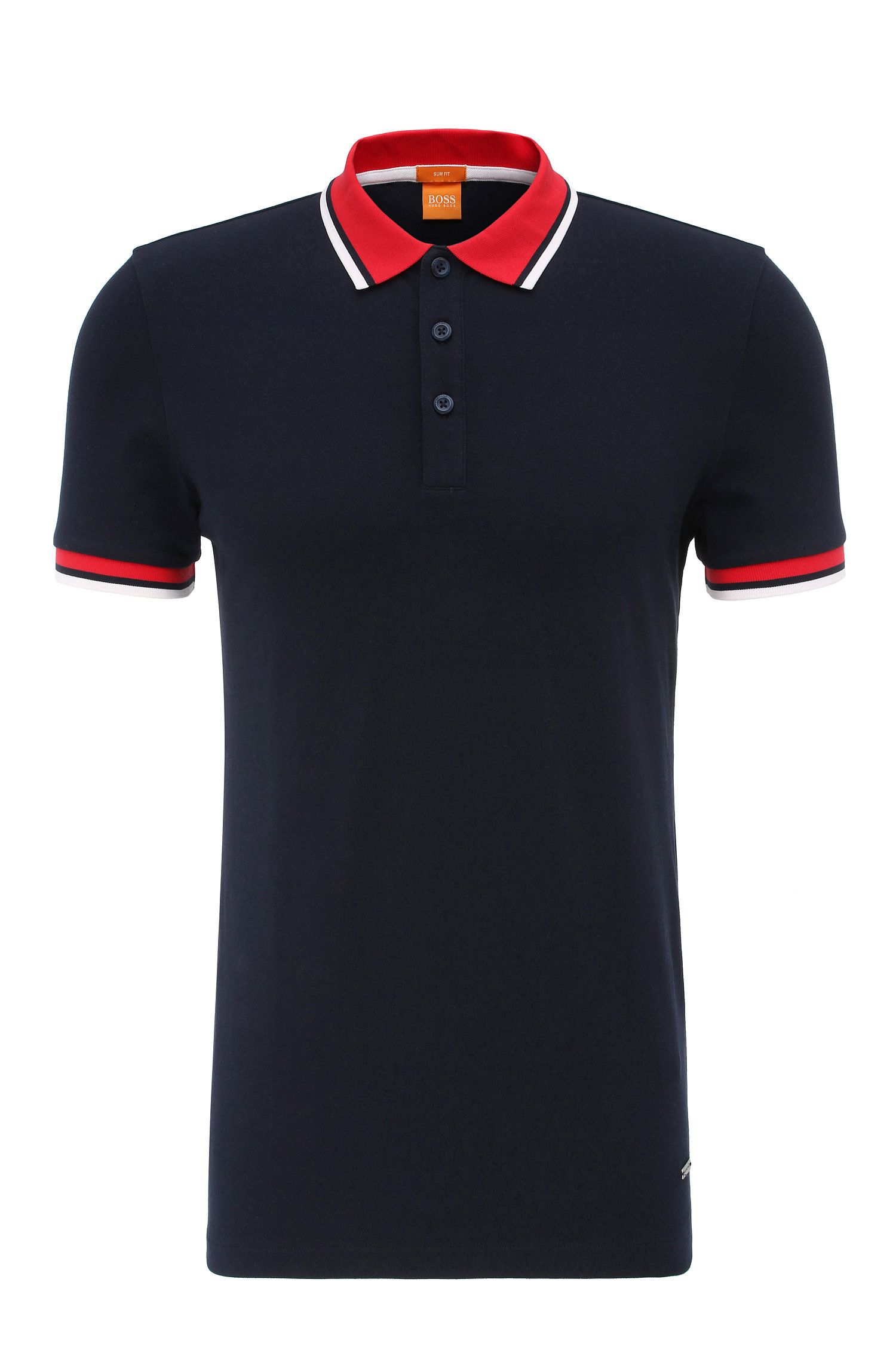 Polo slim fit in cotone elasticizzato: 'Pay'