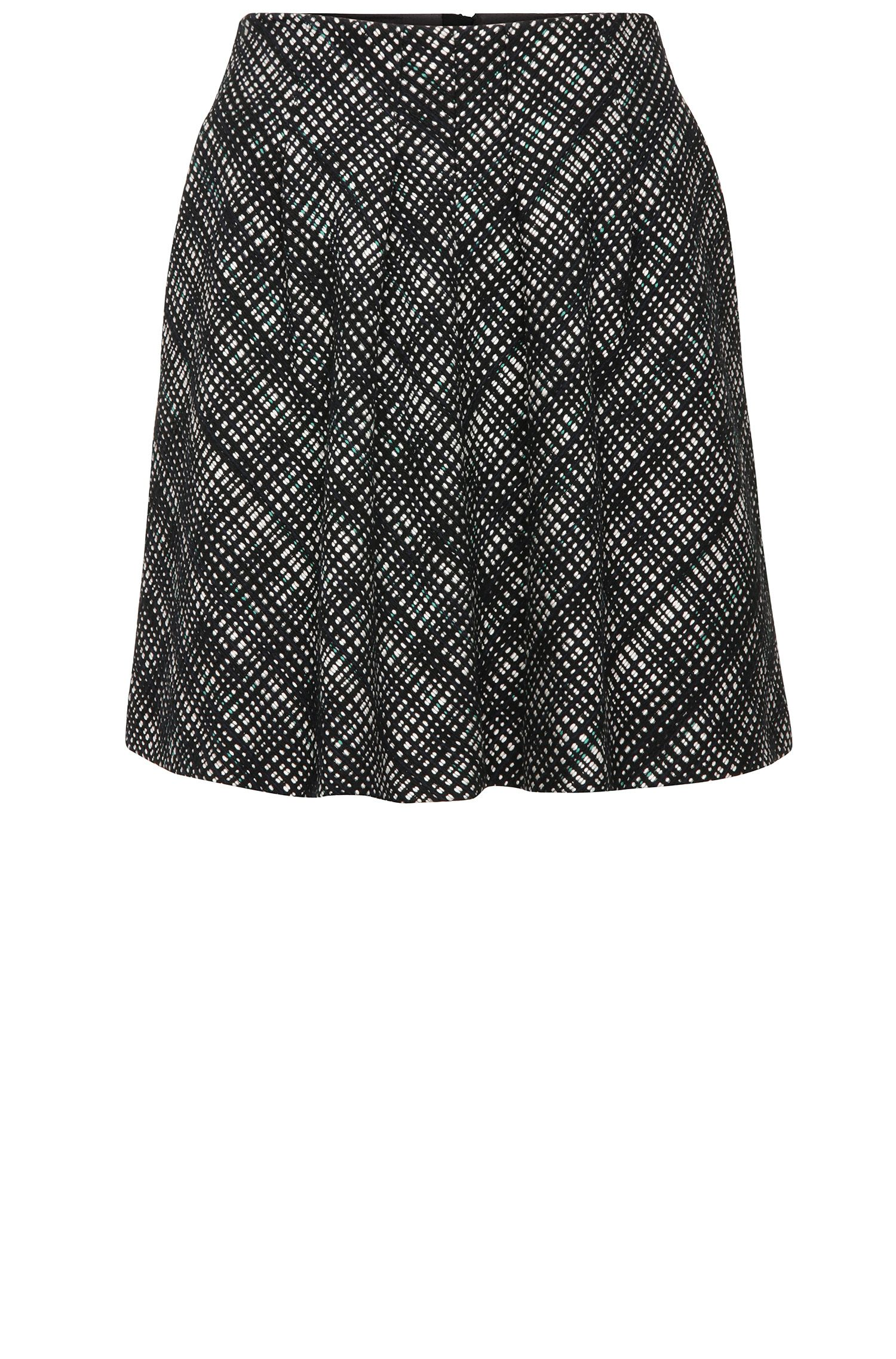Tweed-look short skirt in a cotton blend: 'Bablocky1'