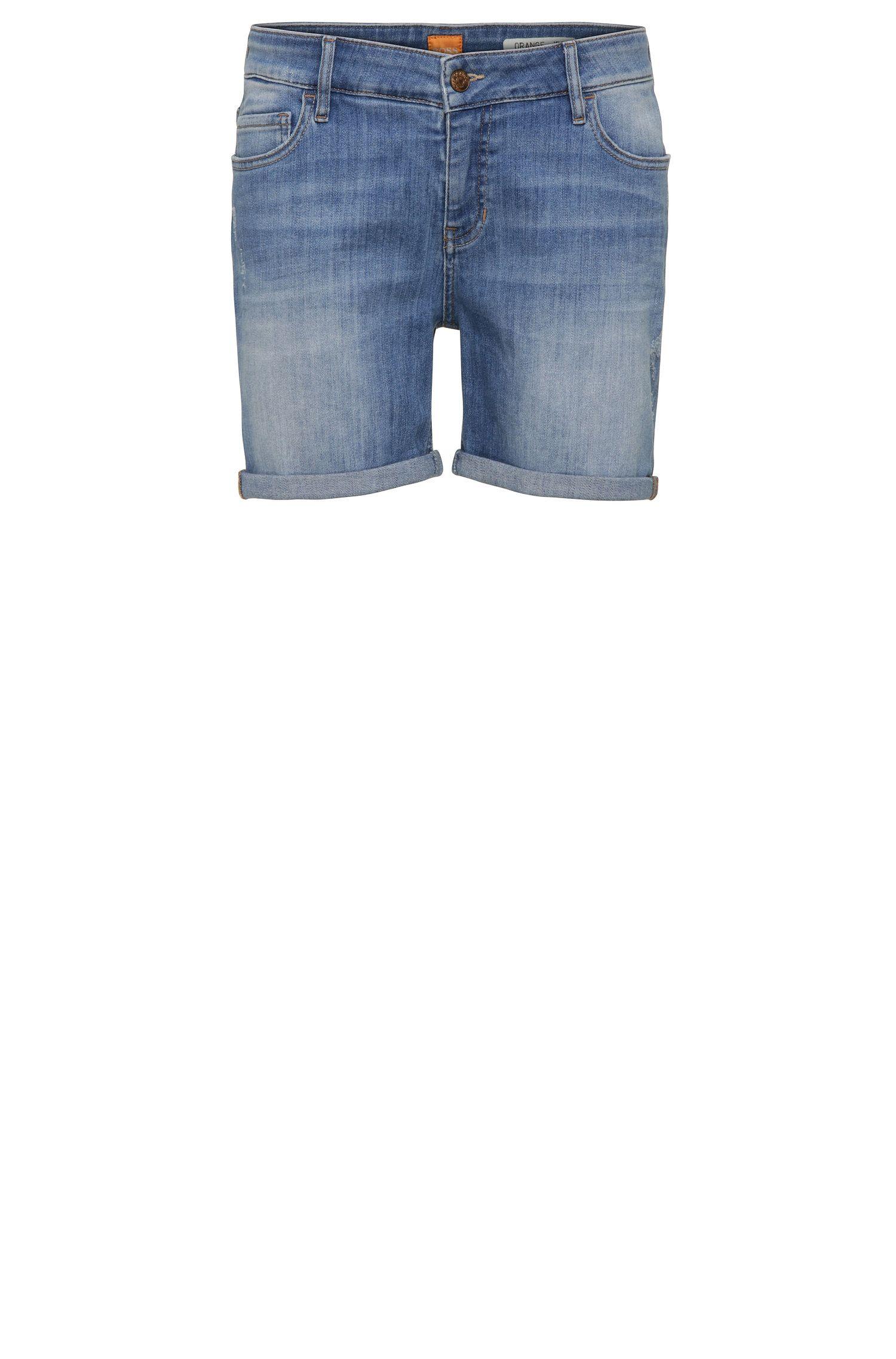 Relaxed-Fit Shorts aus elastischem Baumwoll-Mix im Used-Look: ´Orange J70 Hershey`