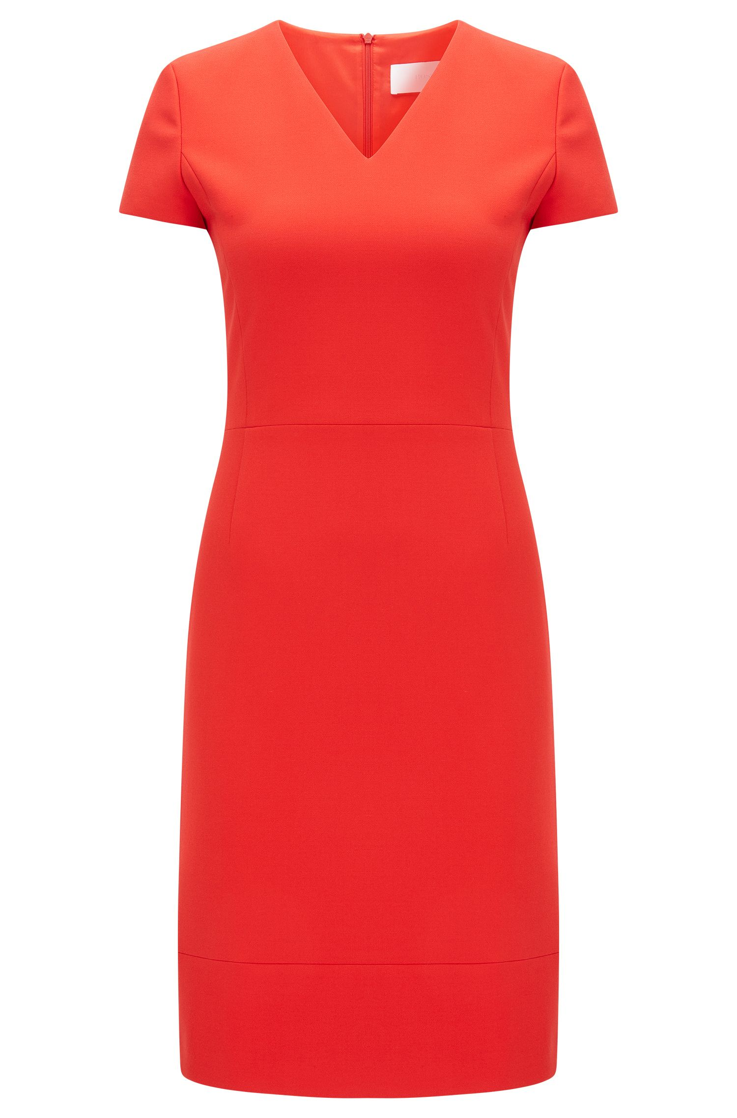 Sheath dress with V-neck: 'Demida1'