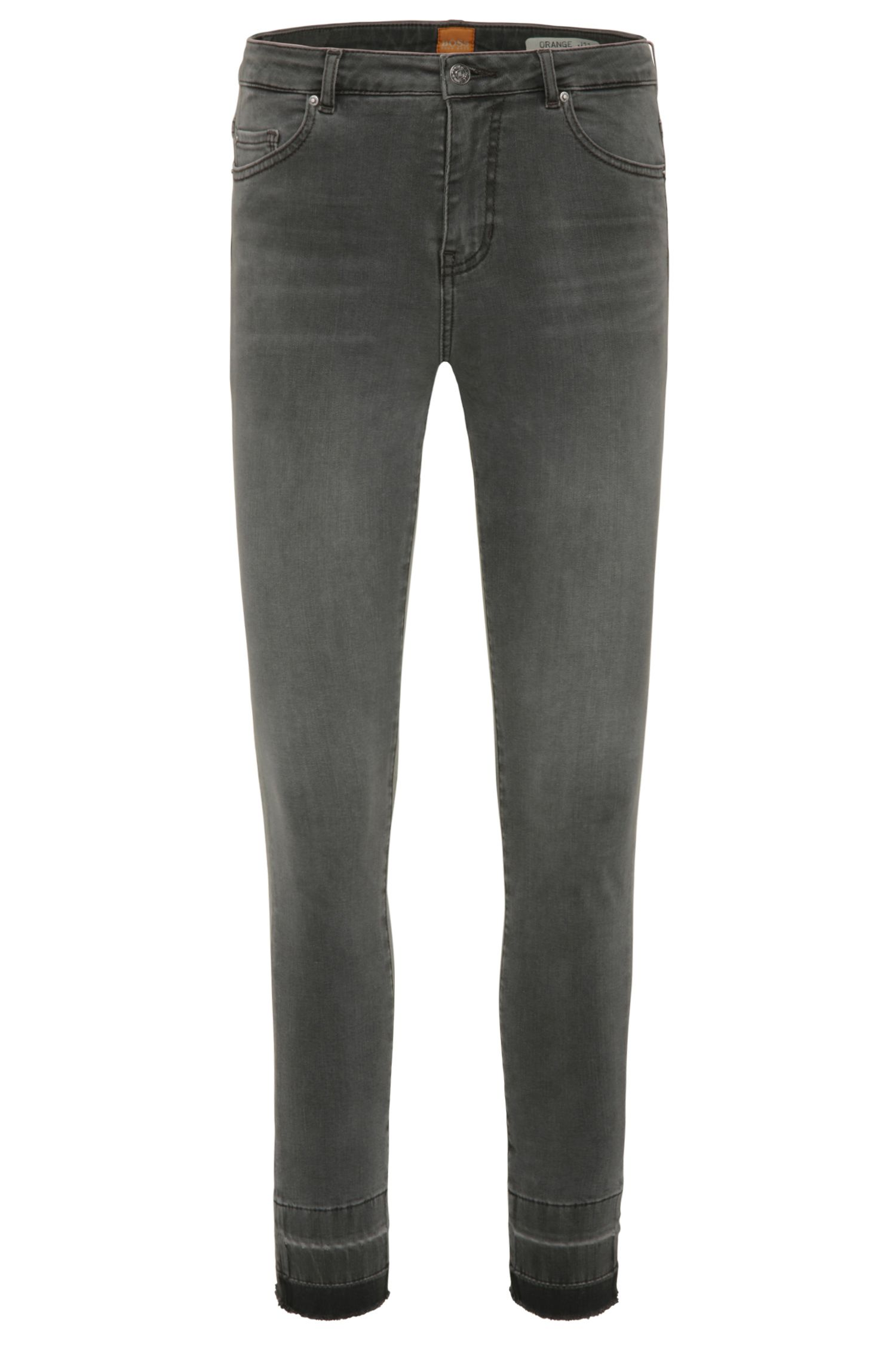 Jeans Skinny Fit aux effets délavés en coton mélangé extensible: «Orange J11 Mariposa»