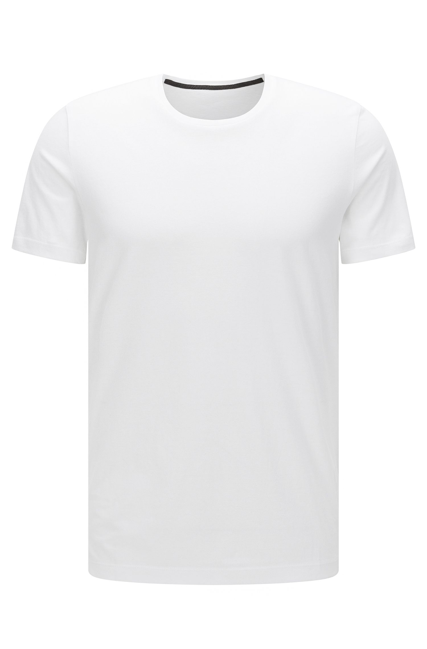 Plain slim-fit t-shirt in cotton: 'Tessler 51-WS'