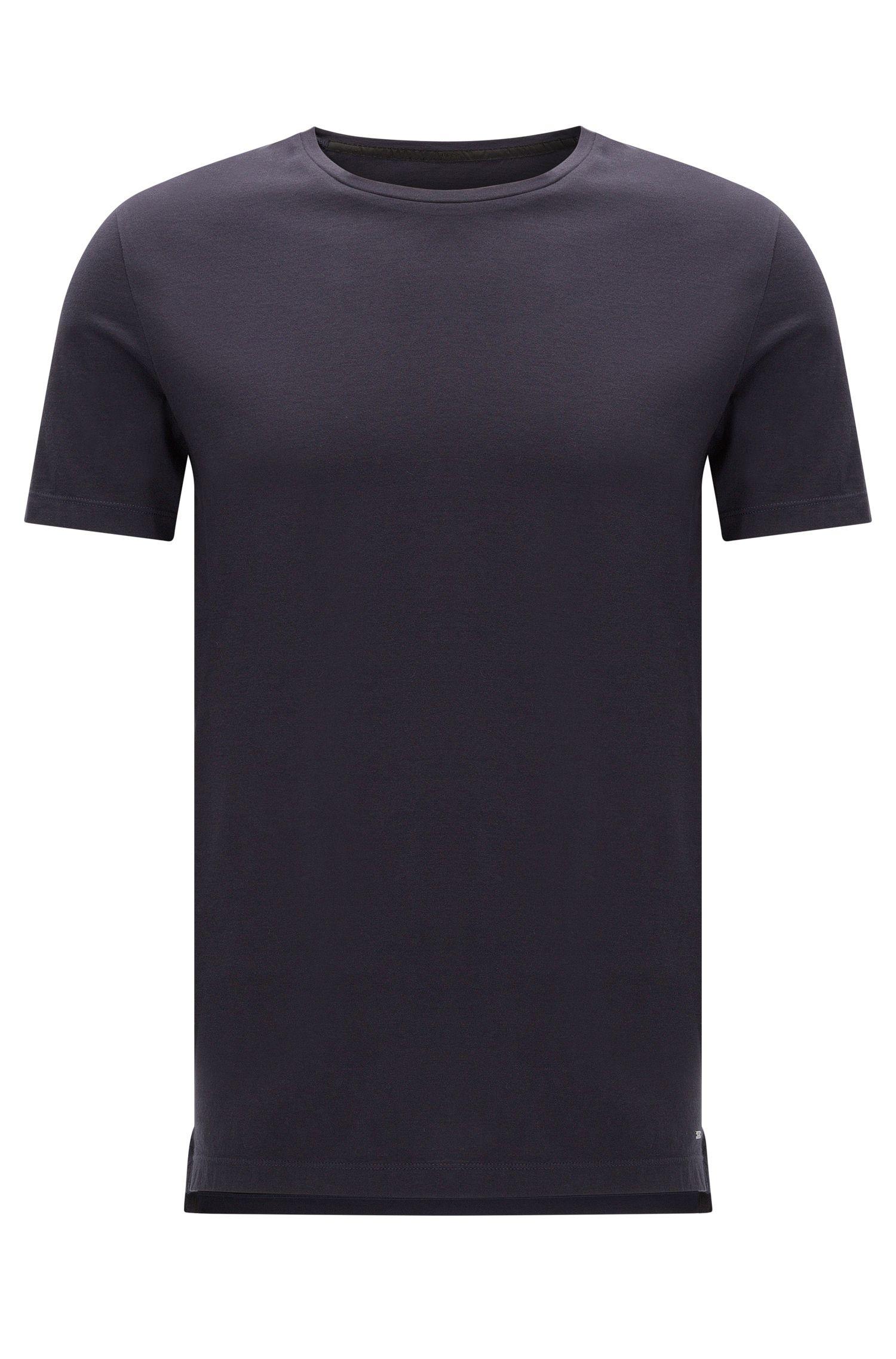 Effen slim-fit T-shirt van katoen: 'Tessler 51-WS'