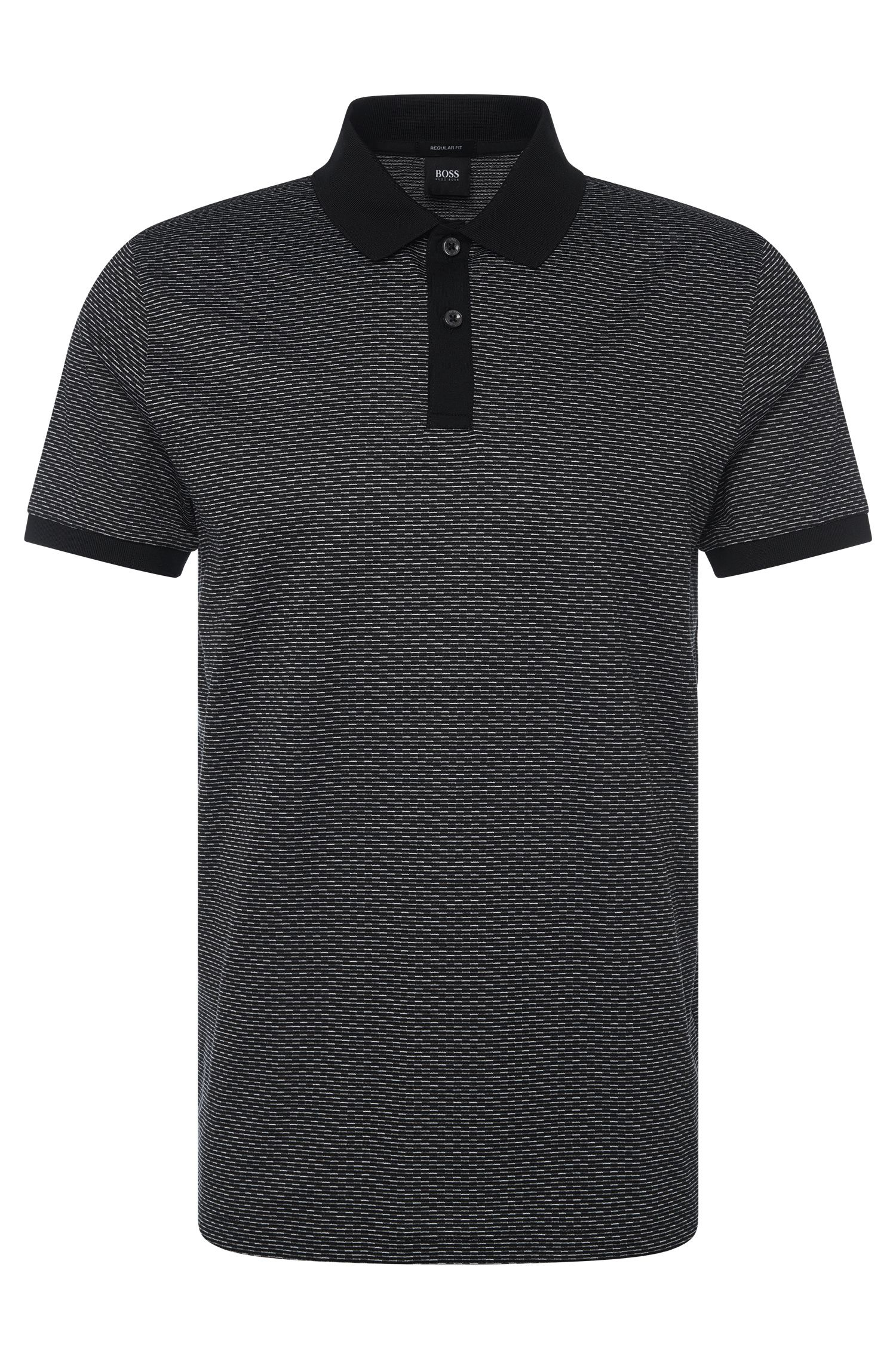Polo Regular Fit, en coton à rayures: «Parlay 08»