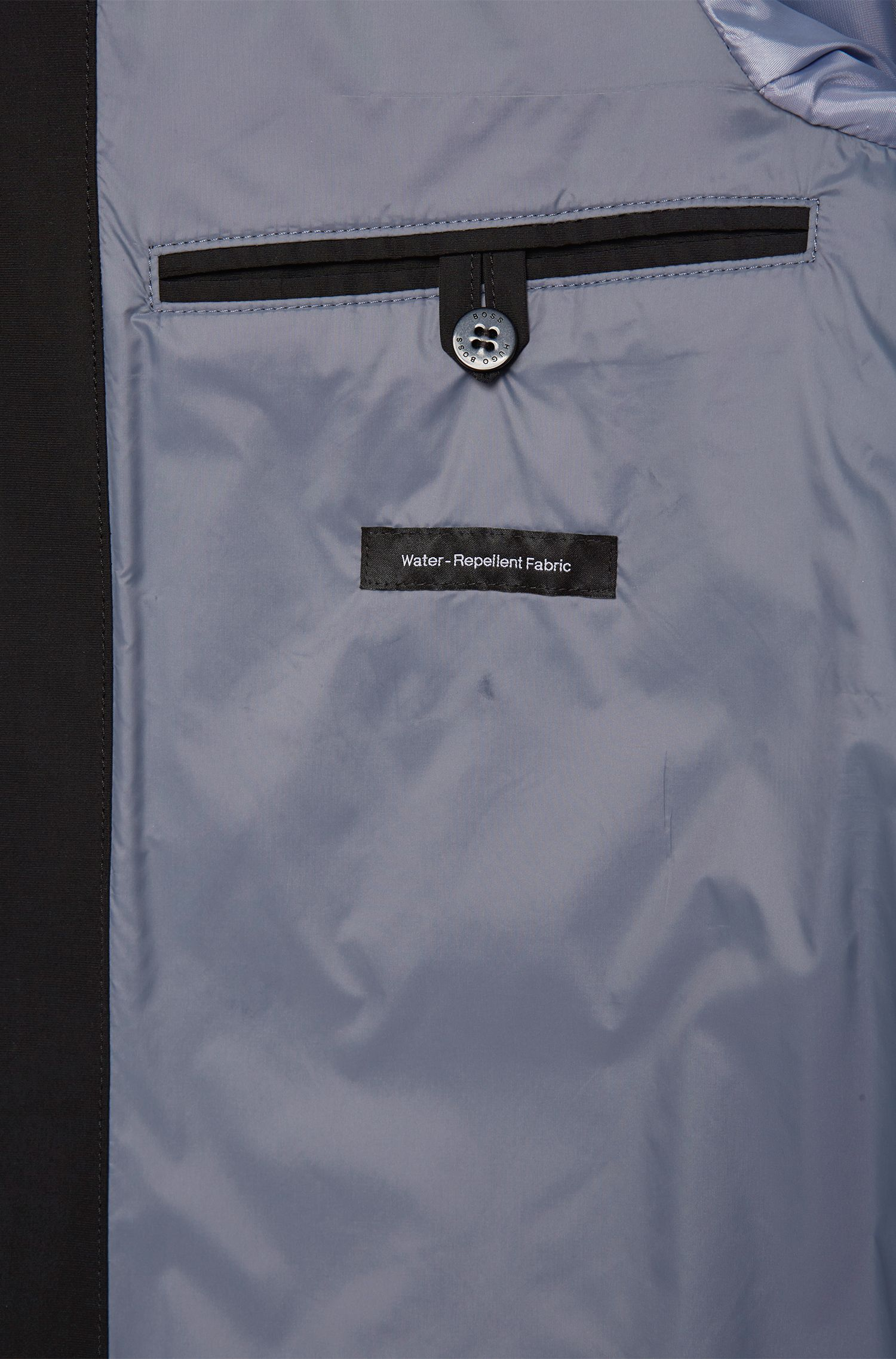 Regular-Fit Mantel aus wasserabweisendem Material-Mix mit Baumwolle: 'Crewo1 '