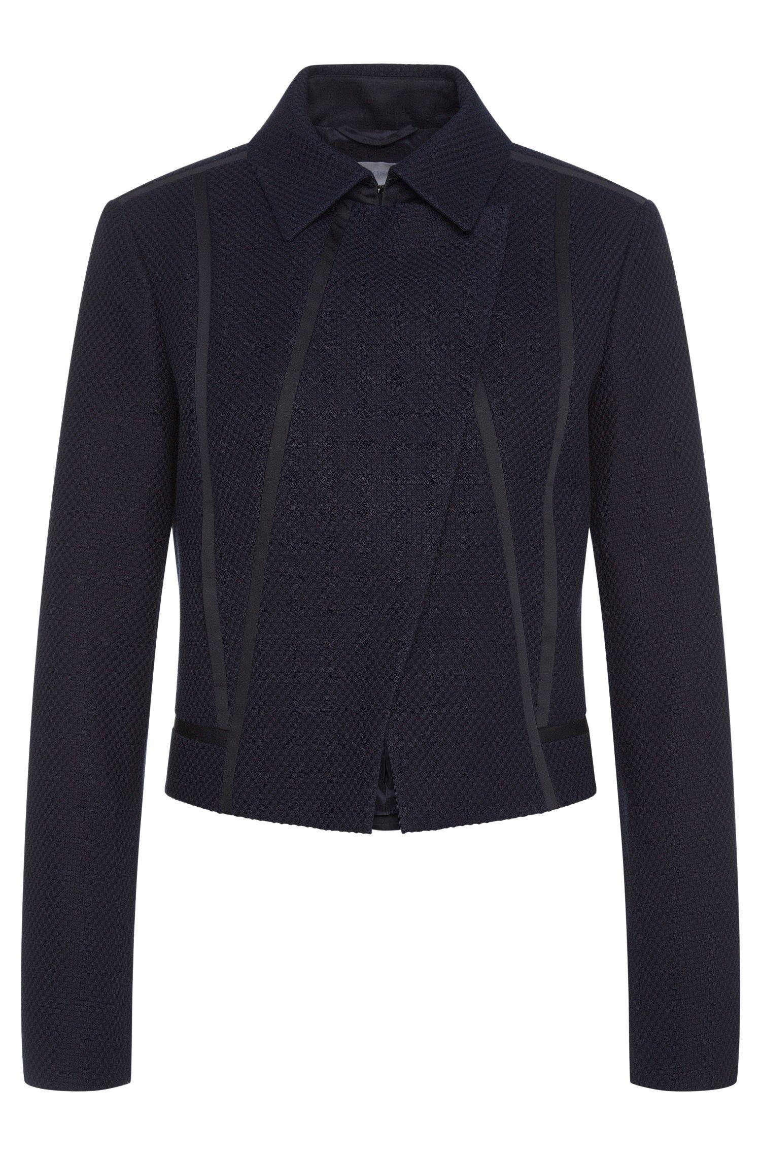 Textured blazer in stretchy cotton blend with viscose: 'Jaebina'