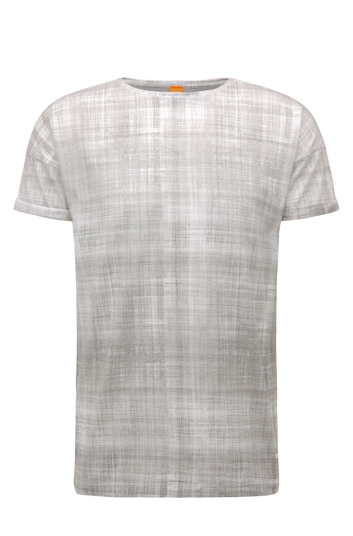 Relaxed-fit shirt van katoen met print: 'Tomotion'