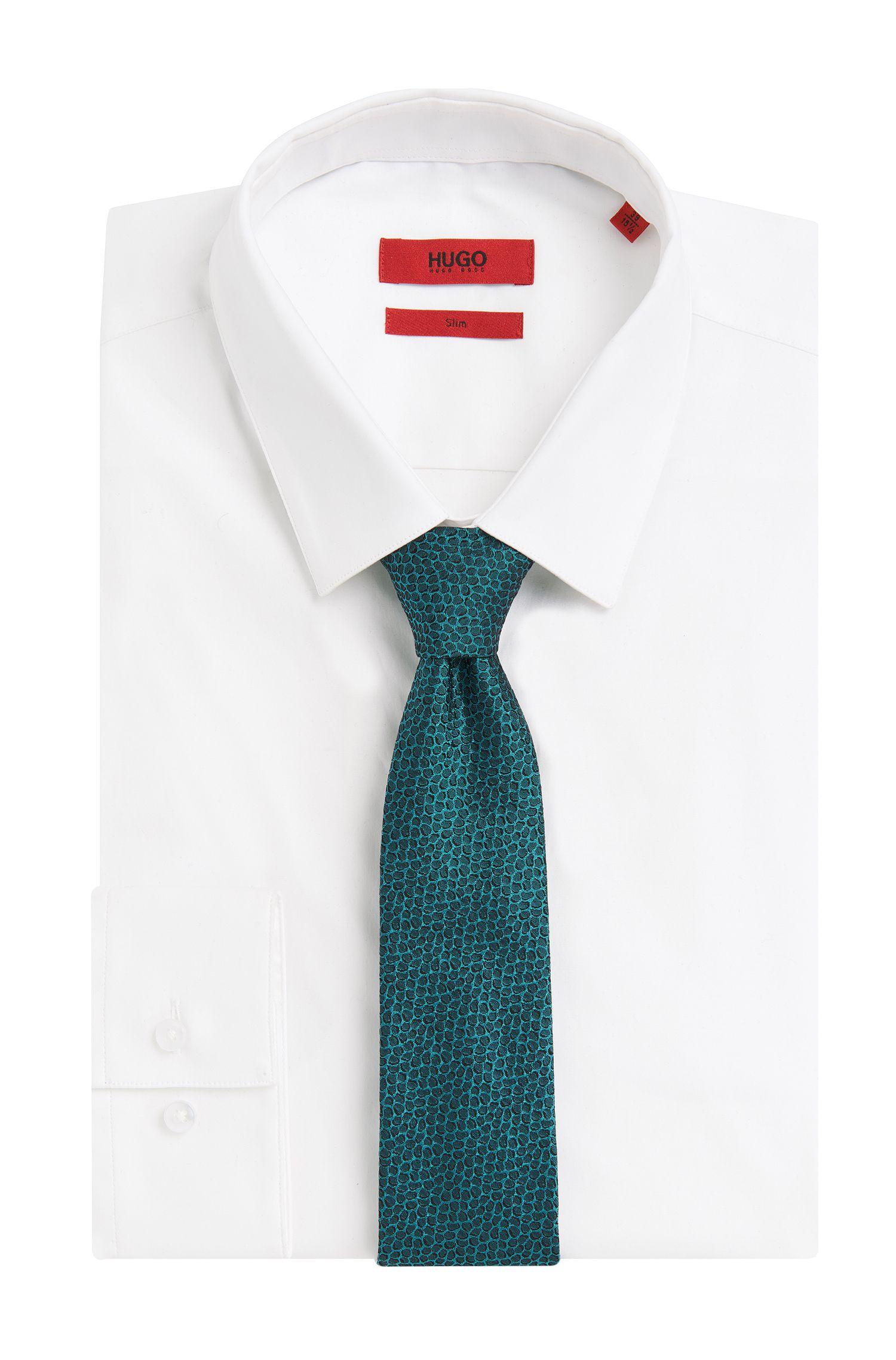 Allover gemusterte Krawatte aus Seide: 'Tie cm 6'