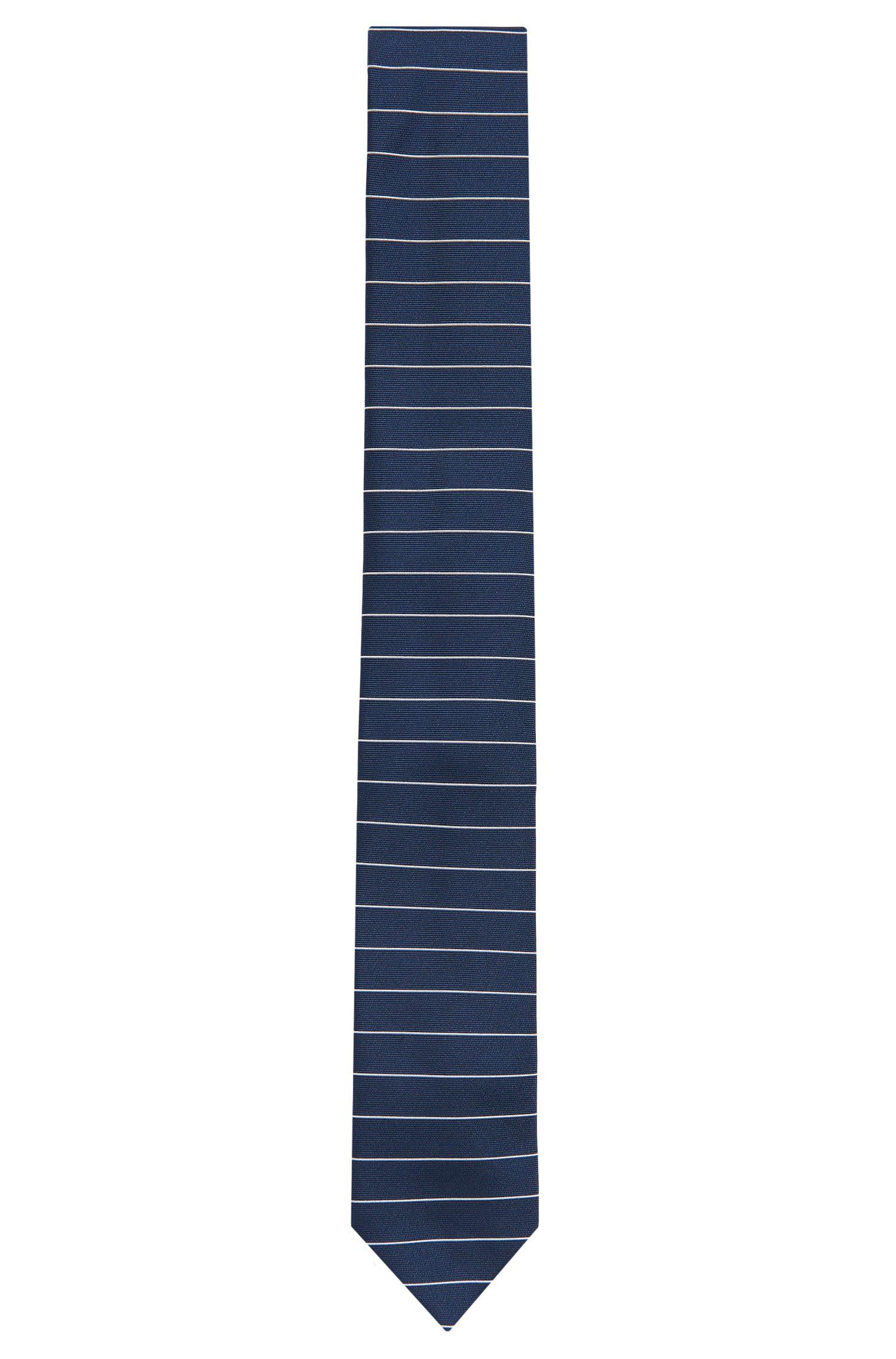 Fijngestreepte stropdas van zijde: 'Tie 6 cm'