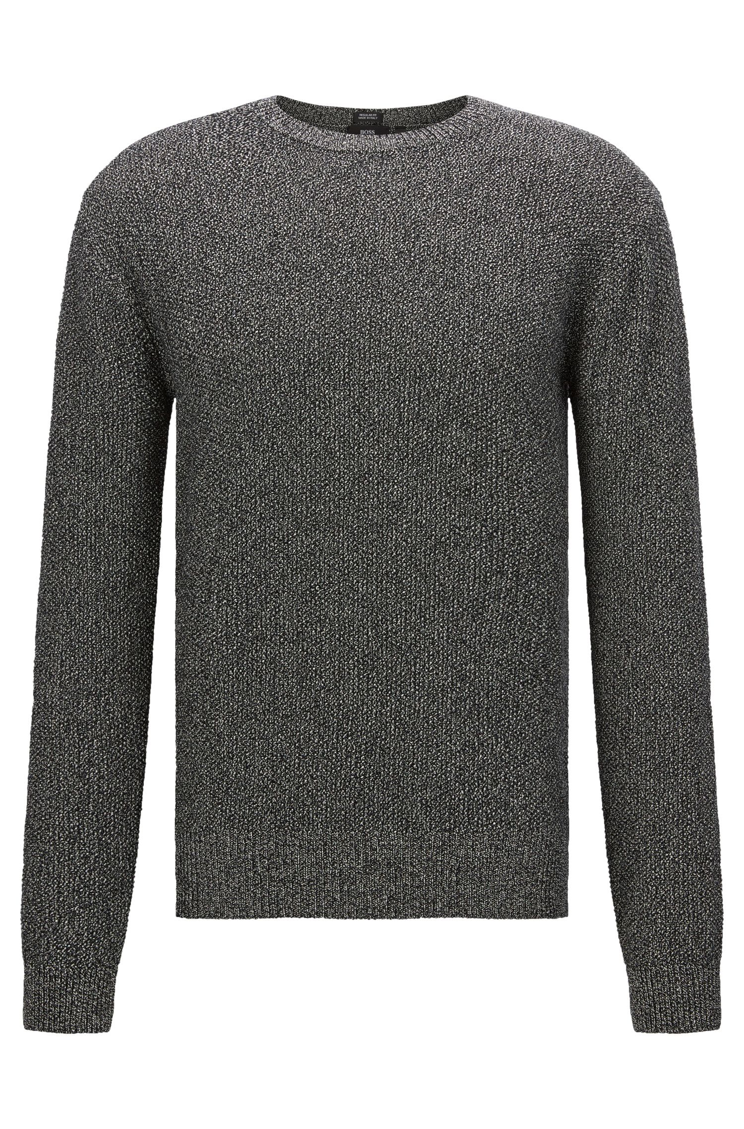 Mottled regular-fit sweater in cotton: 'Orsino'