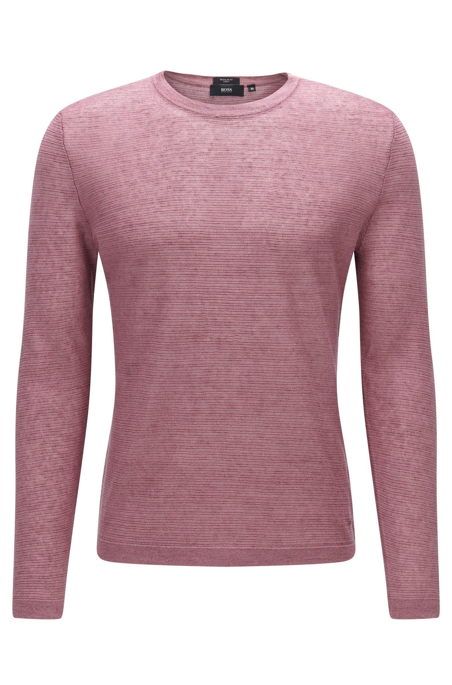 Textured sweater in linen: 'Ollivio'