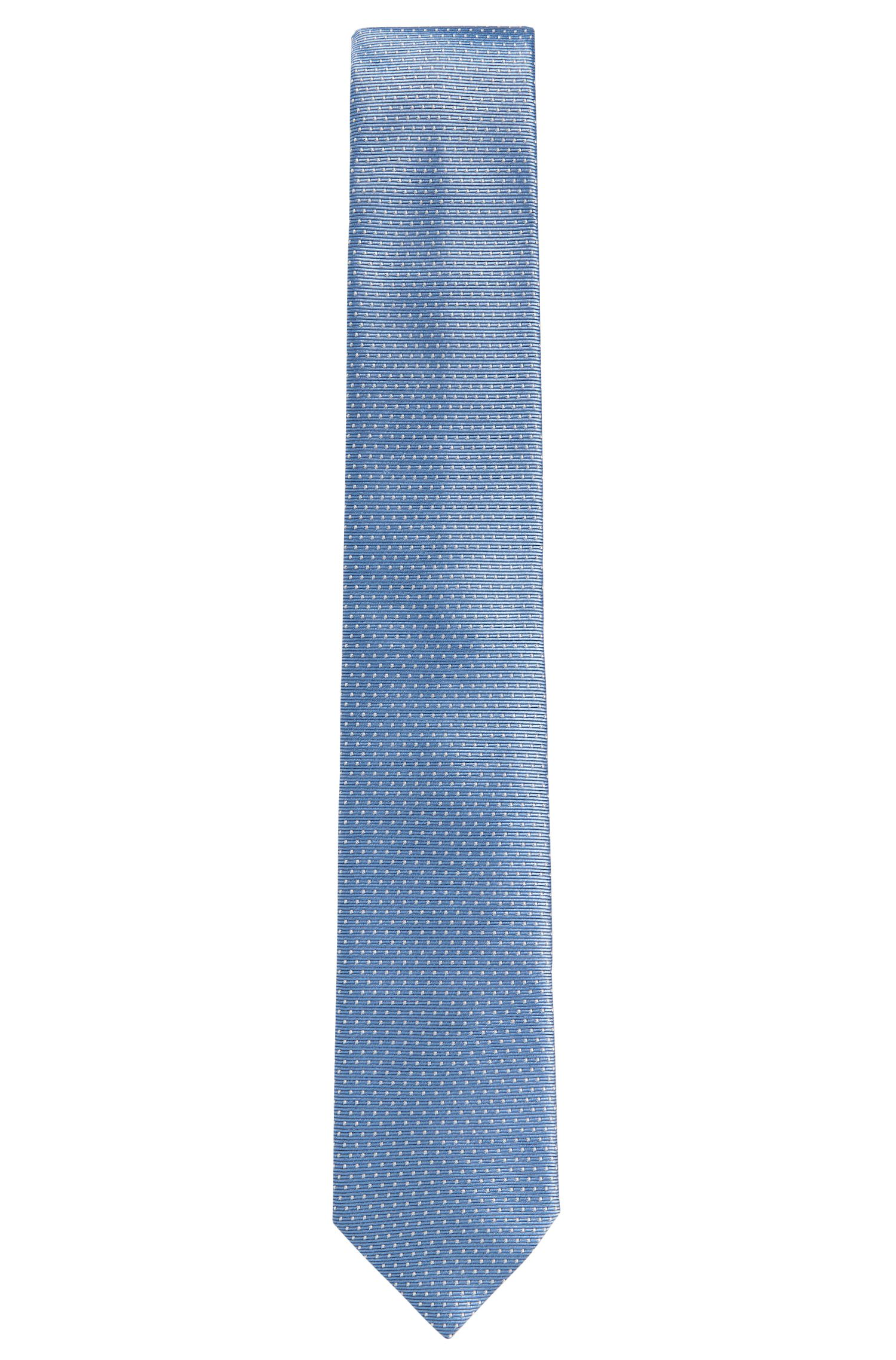 Polka dot pattern silk tie: 'Tie 7 cm'