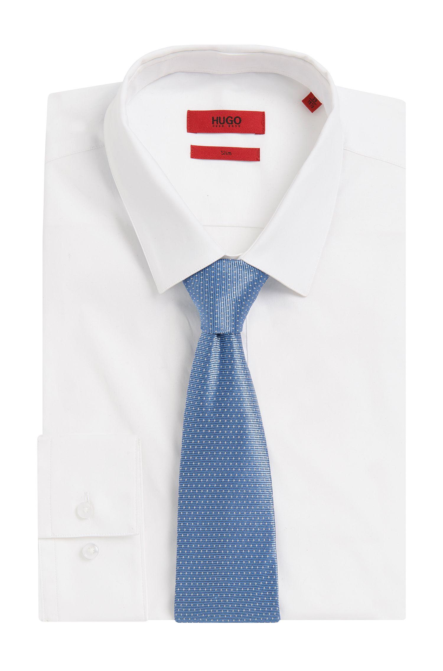 Gestippelde zijden stropdas: 'Tie 7cm'