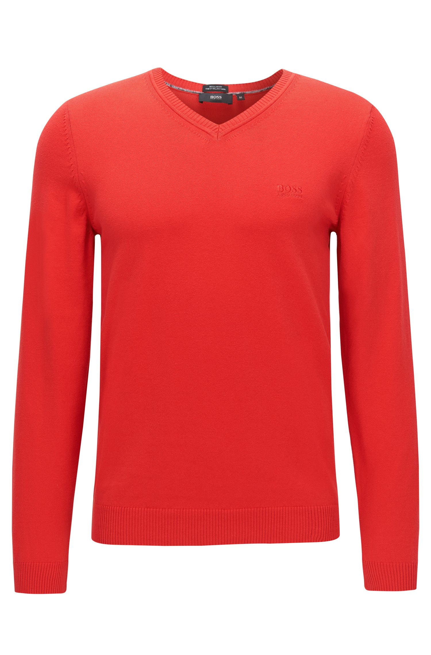 Regular-fit sweater in cotton: 'Fillipp-O'
