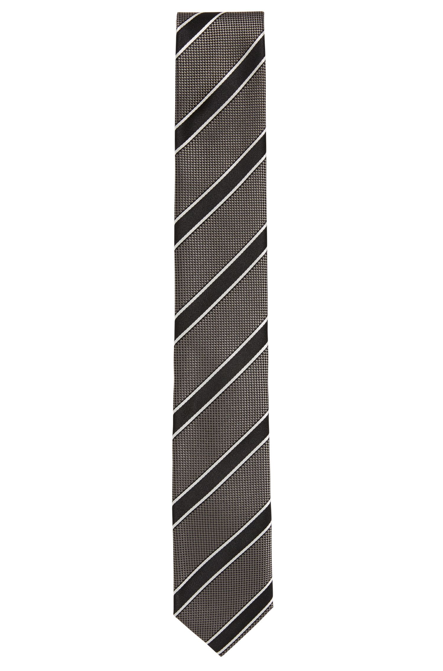 Striped silk tie: 'Tie 6 cm'