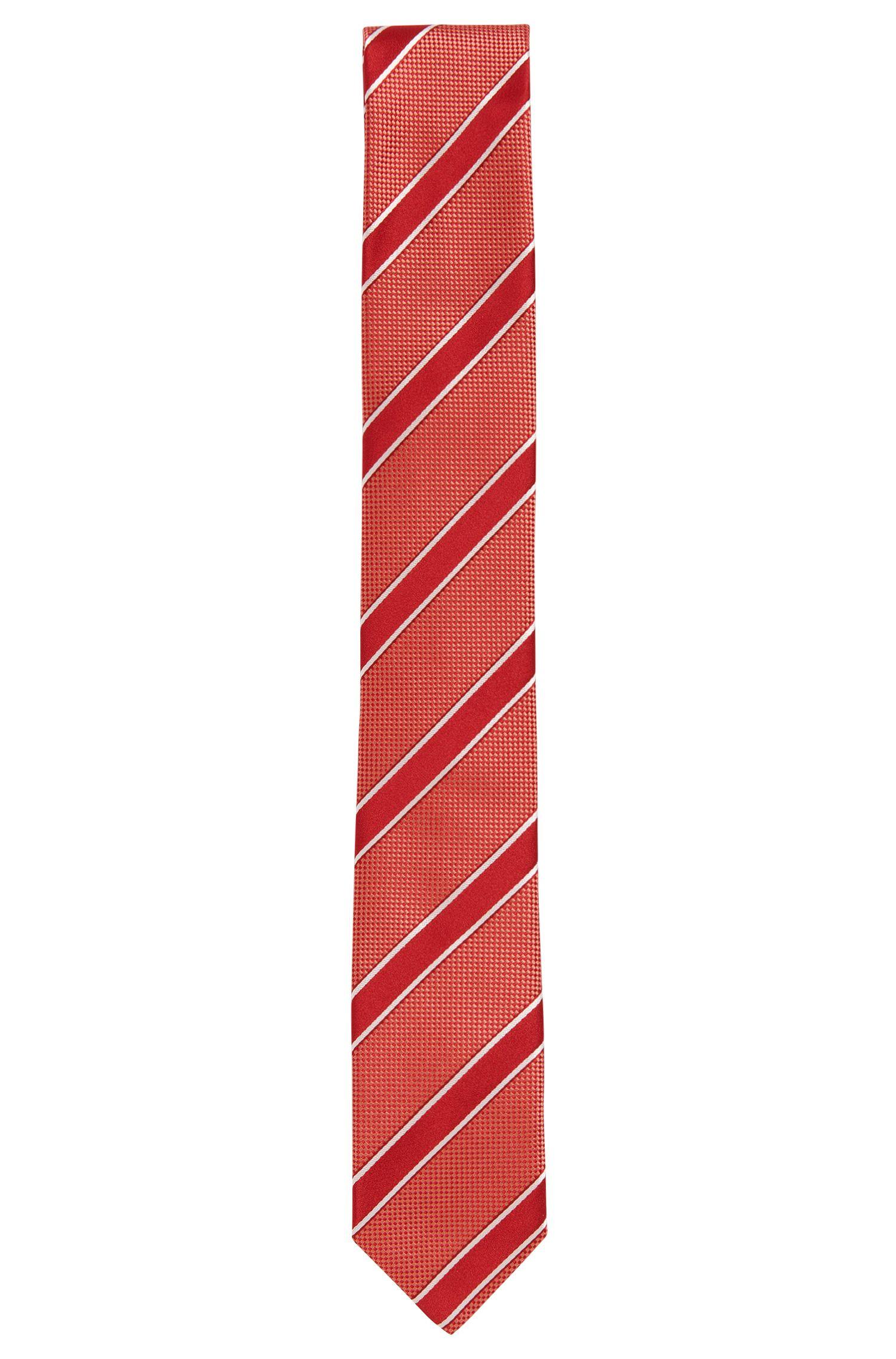 Striped silk tie: 'Tie 6cm'