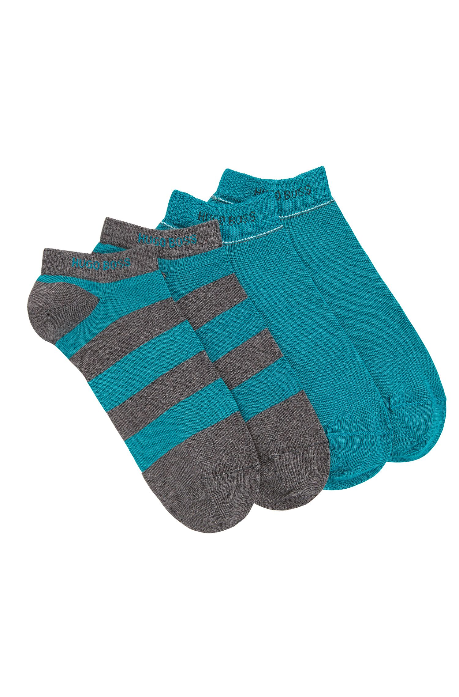 Trainer socks in stretch cotton blend in a double pack: 'Twopack AS Design'