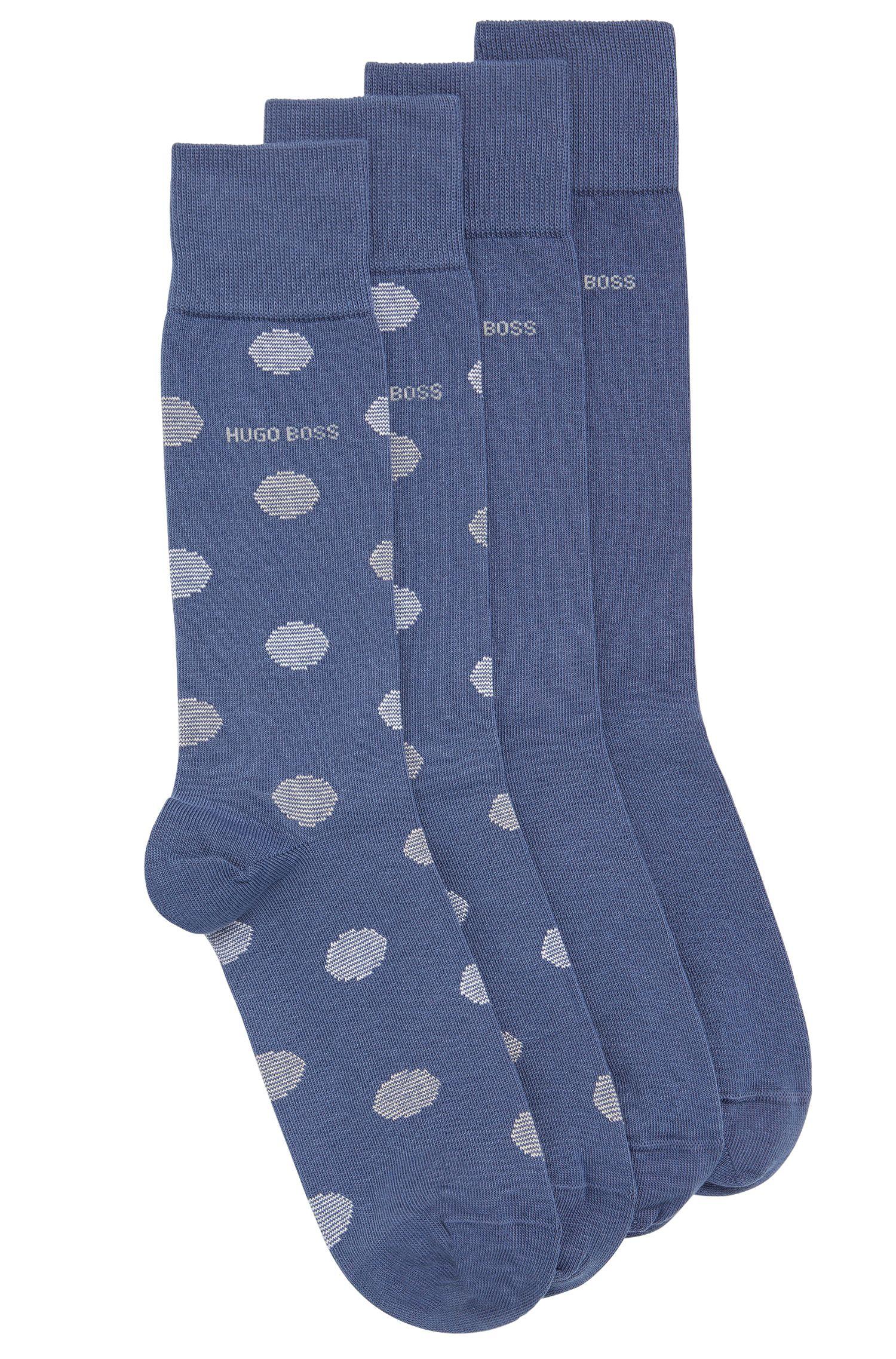 Chaussettes en coton mélangé extensible, en lot de deux: «TwopackRSDesign»