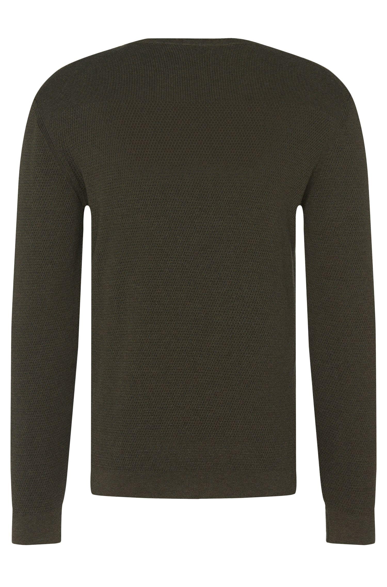 Strukturierter Slim-Fit Pullover aus reiner Baumwolle: 'Odam'