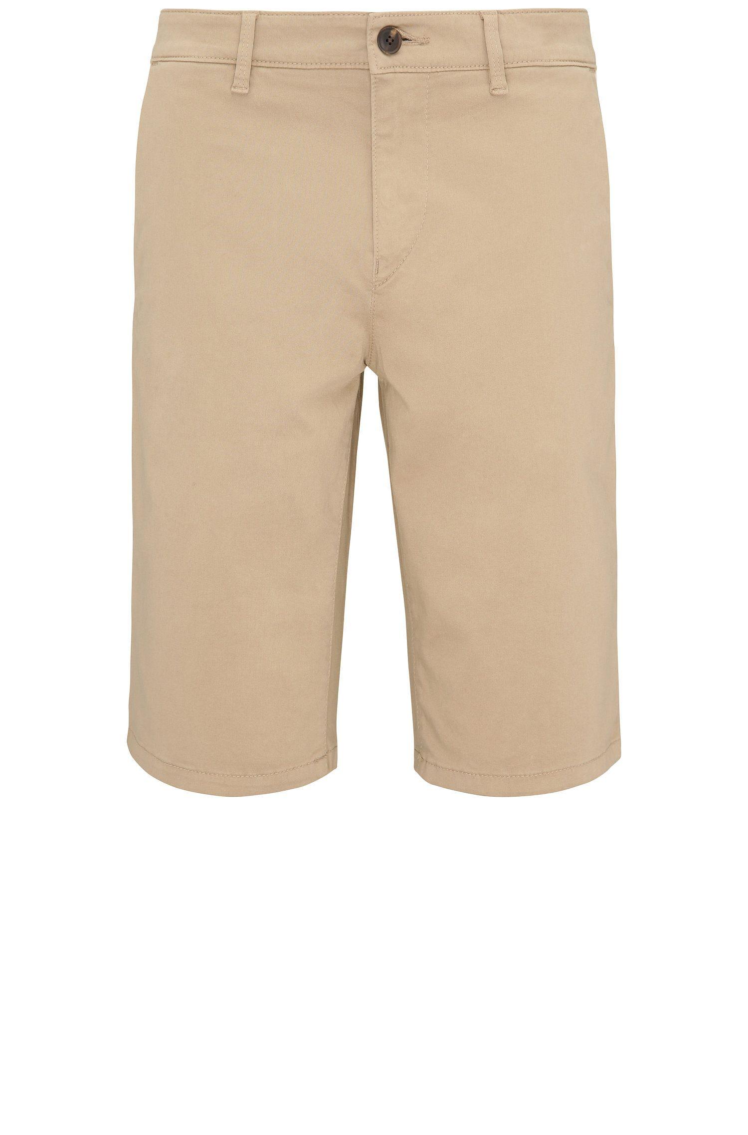 Shorts slim fit en algodón elástico en estilo chinos: 'Schino-Slim-Shorts-D'