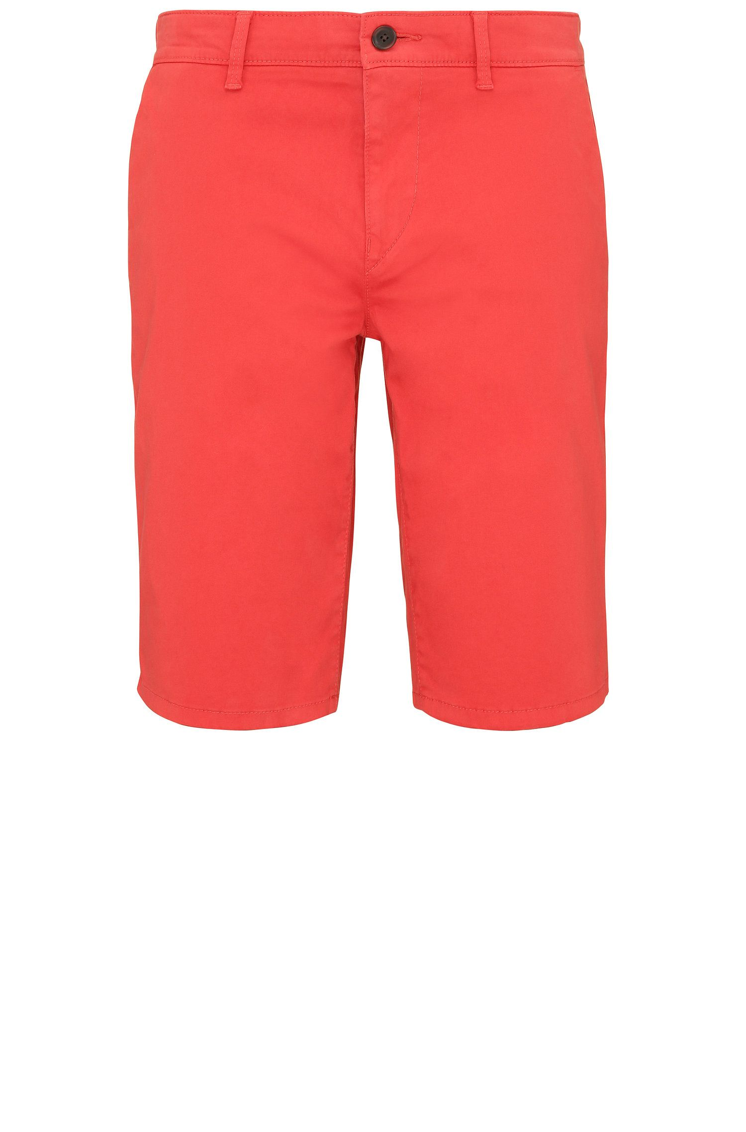 Short Slim Fit en coton stretch de style chino : « Schino-Slim-Shorts-D »
