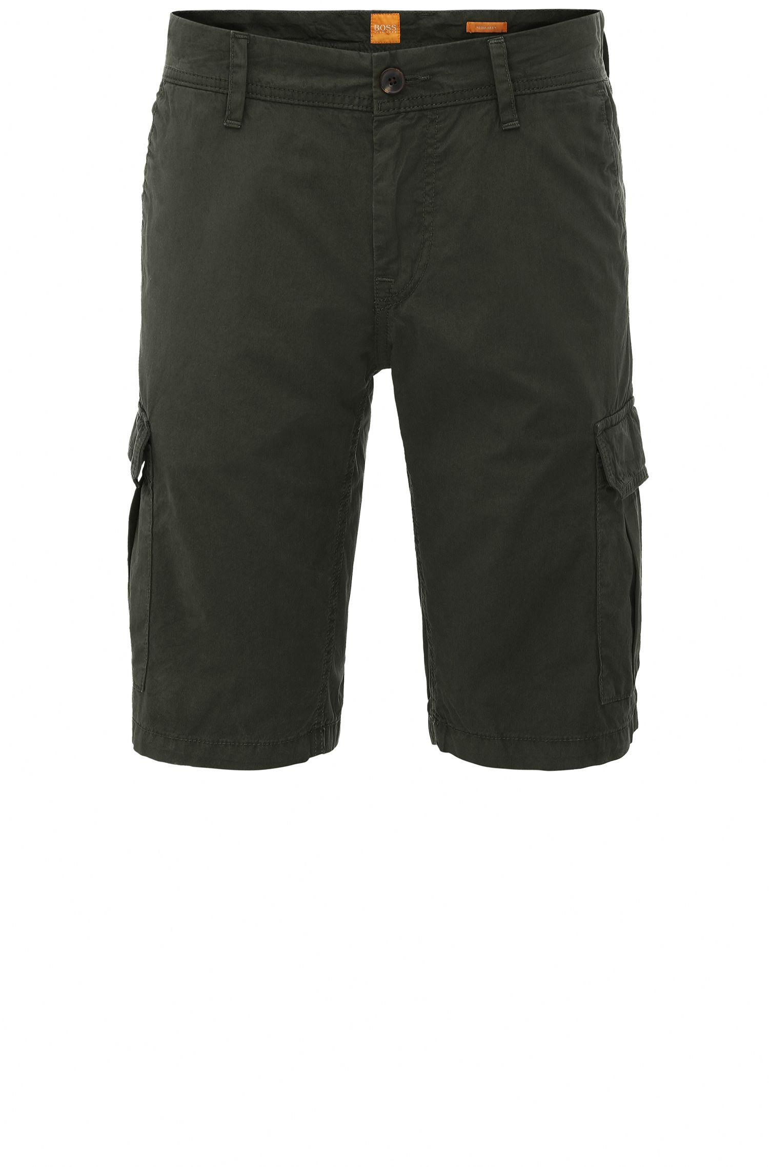 Regular-fit cargo shorts in cotton: 'Schwinn5-Shorts-D'