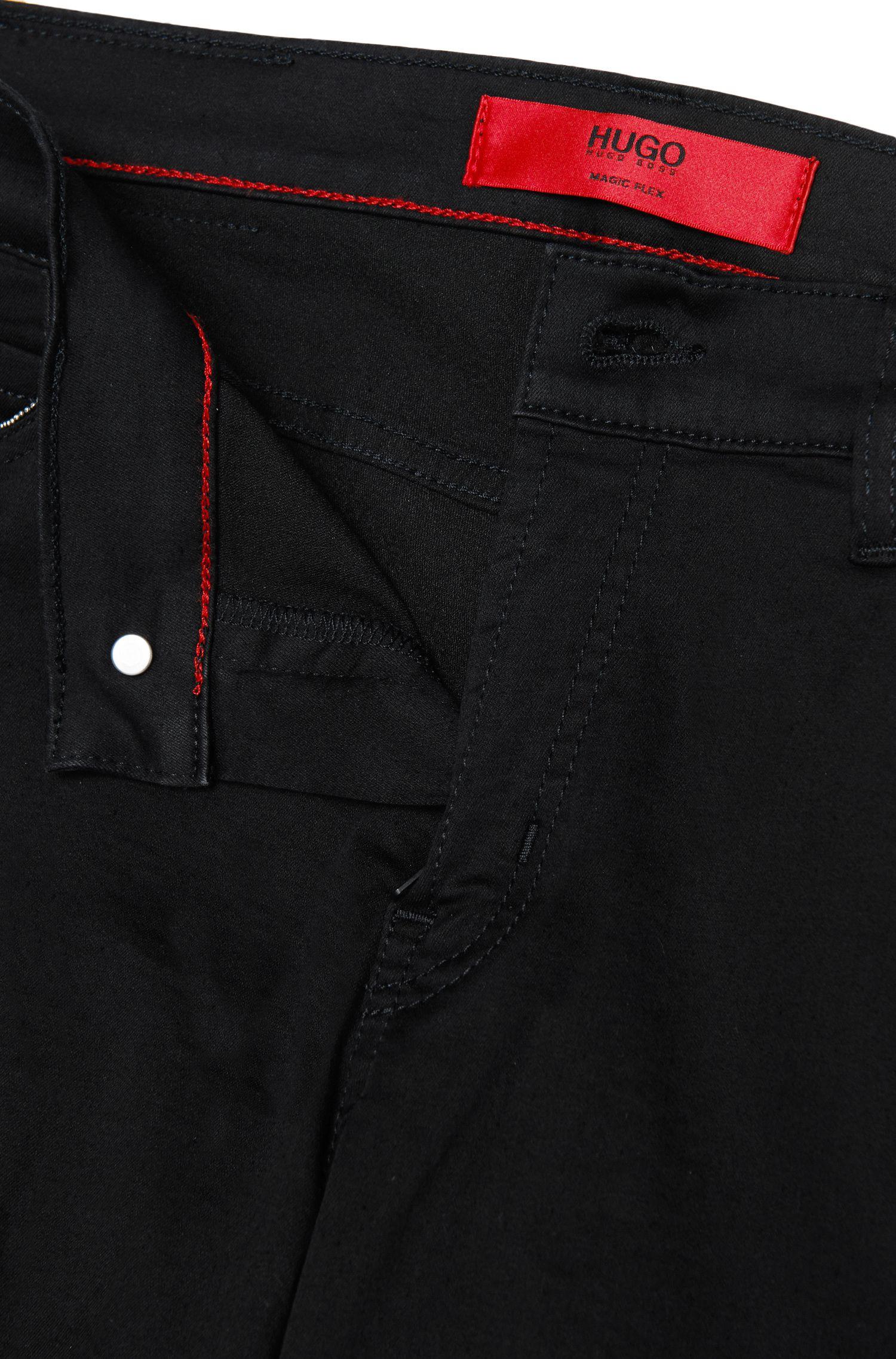 Skinny-Fit Jeans aus elastischem Baumwoll-Mix mit Perlen-Besatz: 'Georgina/9'