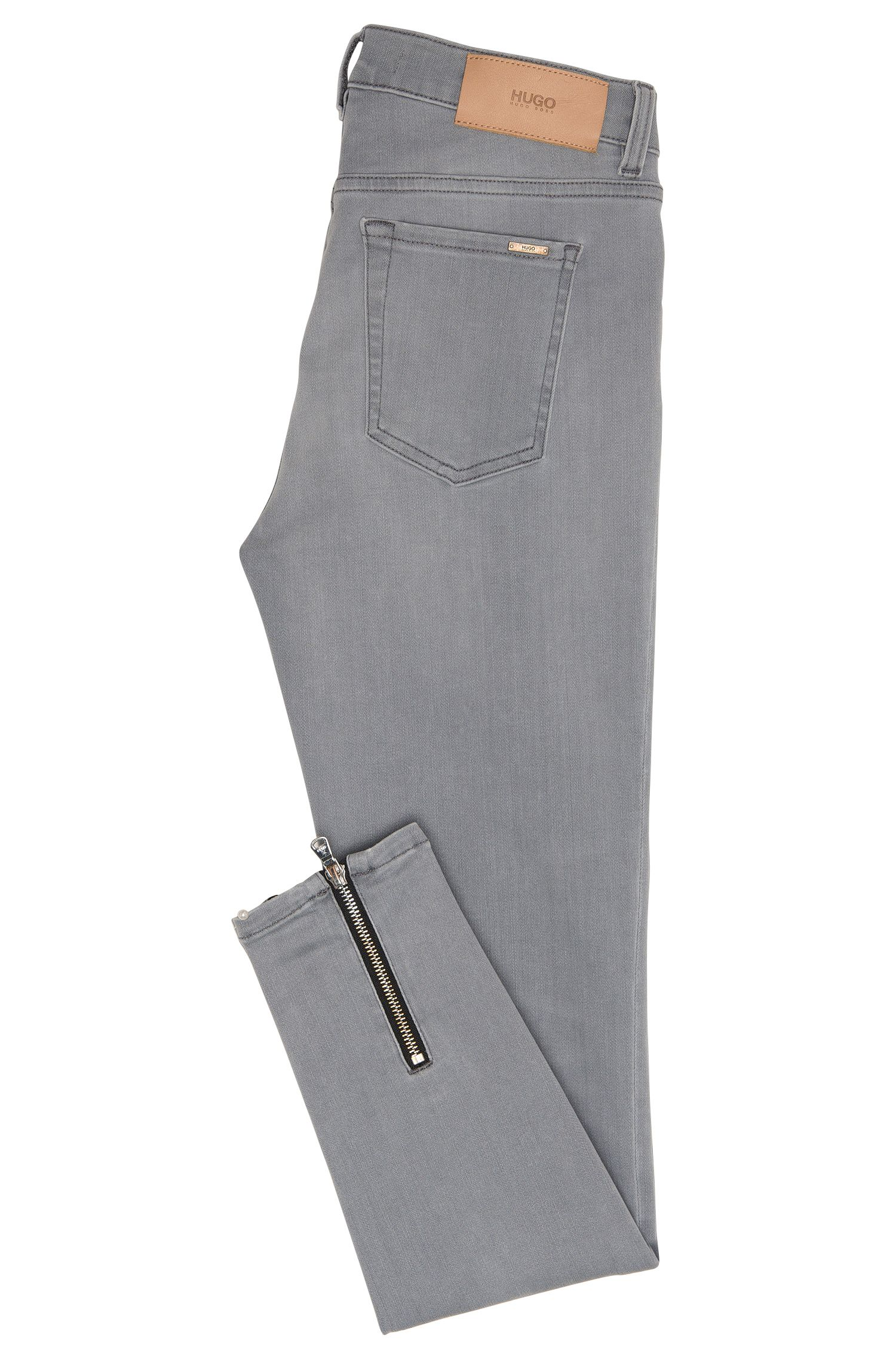 Gecroppte Skinny-Fit Jeans aus elastischem Baumwoll-Mix: 'Gilljana/6'