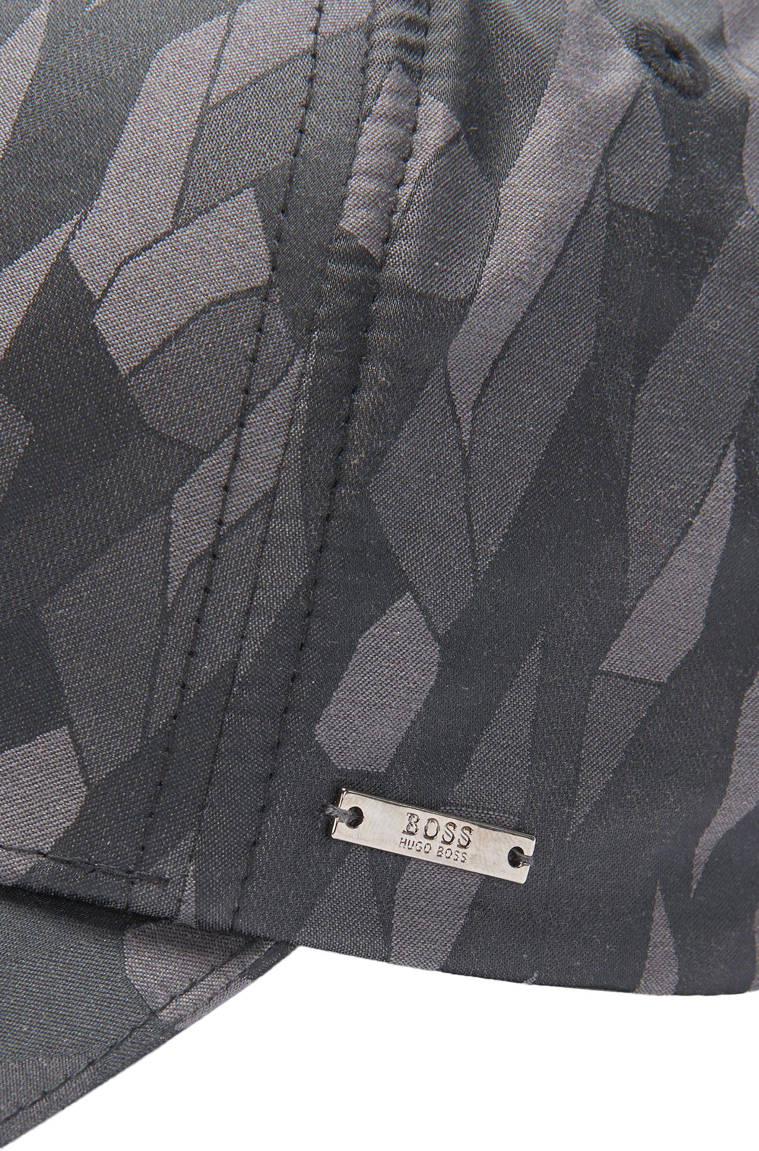 Casquette à motif en coton mélangé: «Secamo»