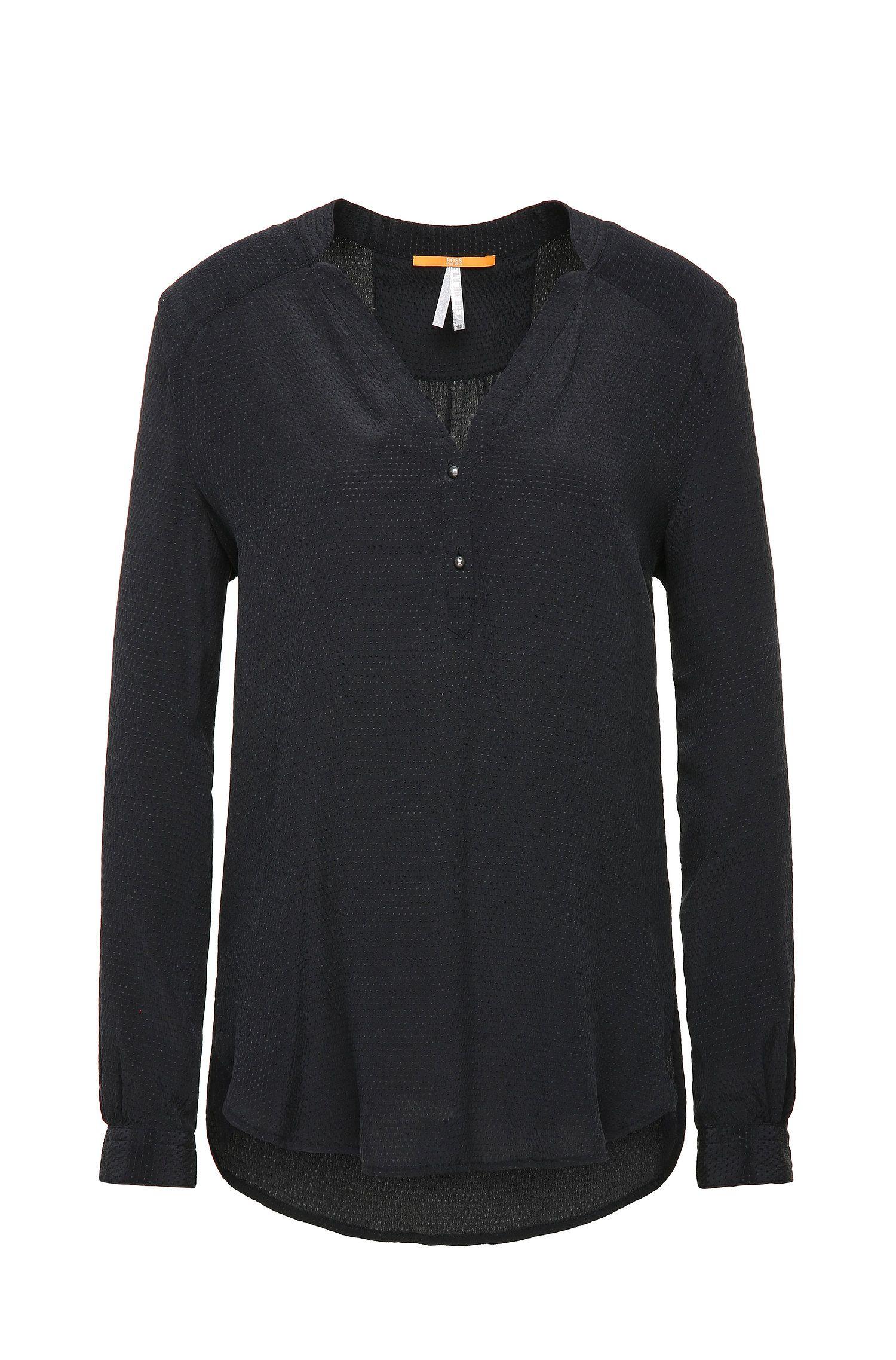 Teder vallende, zijden blouse in tuniekstijl: 'Efivee_9'