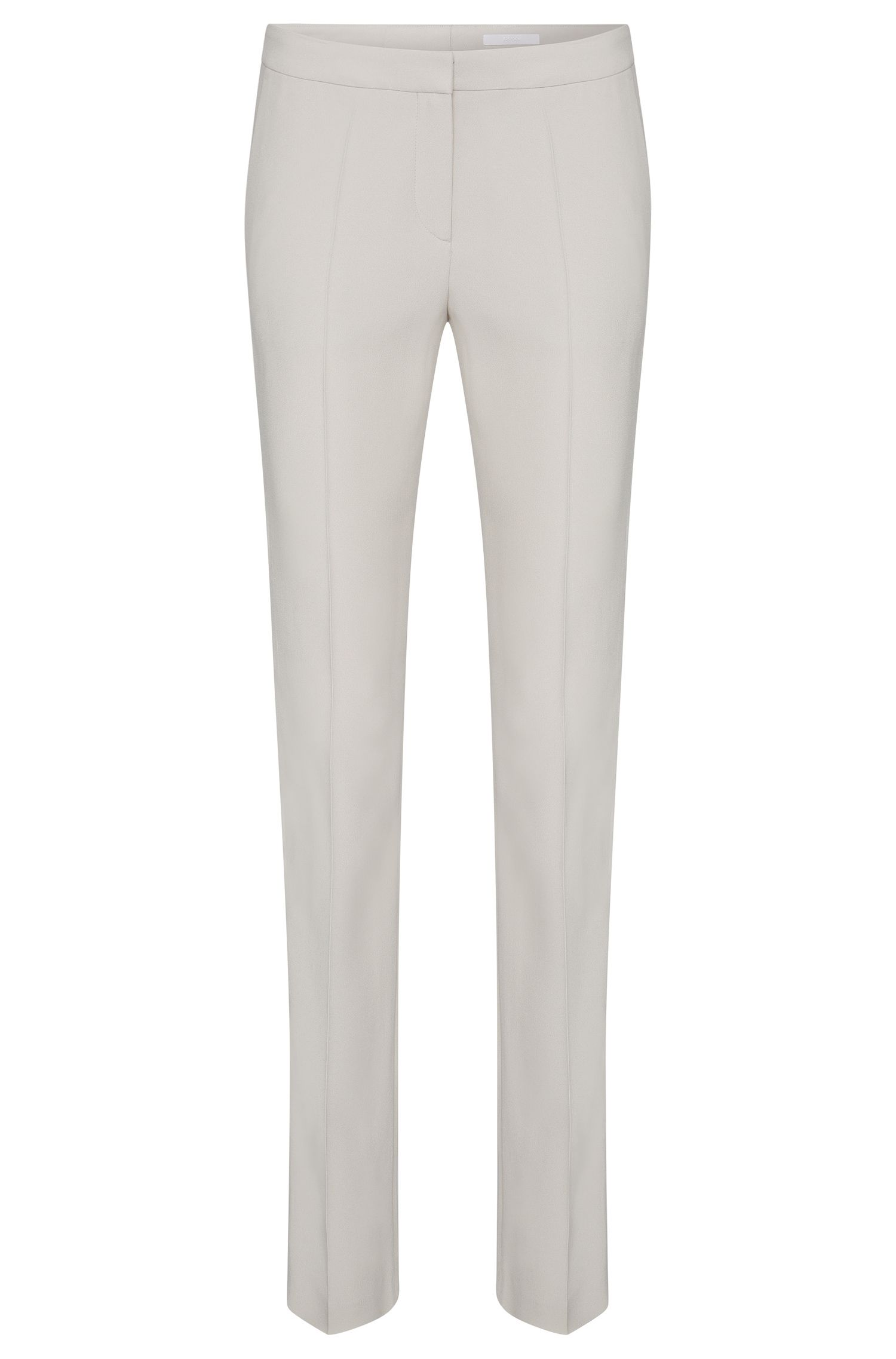 Regular-fit trousers in a material blend with contrasting inserts: 'Tatila'