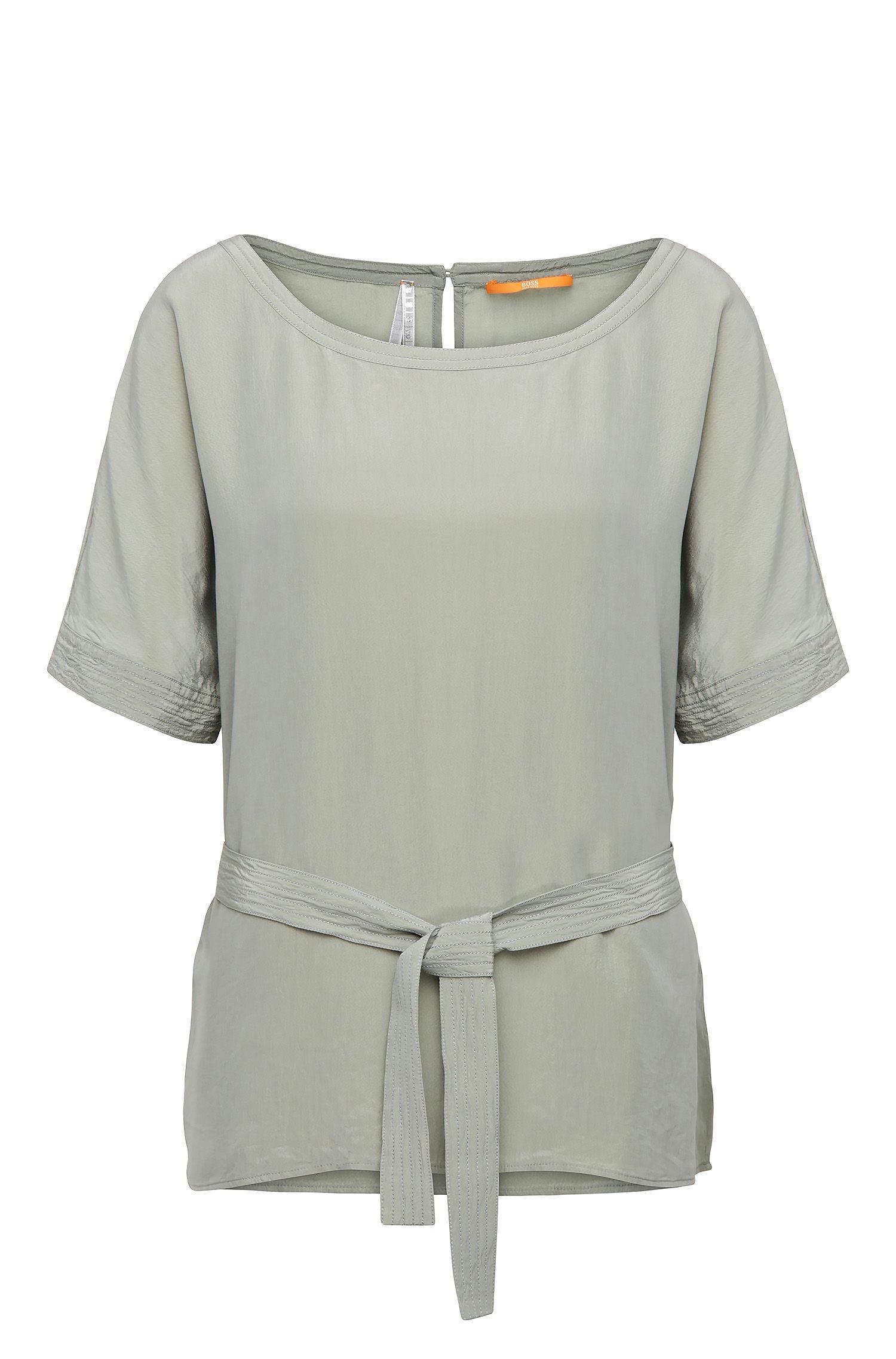 Kimono blouse in a material blend with silk: 'Etai'