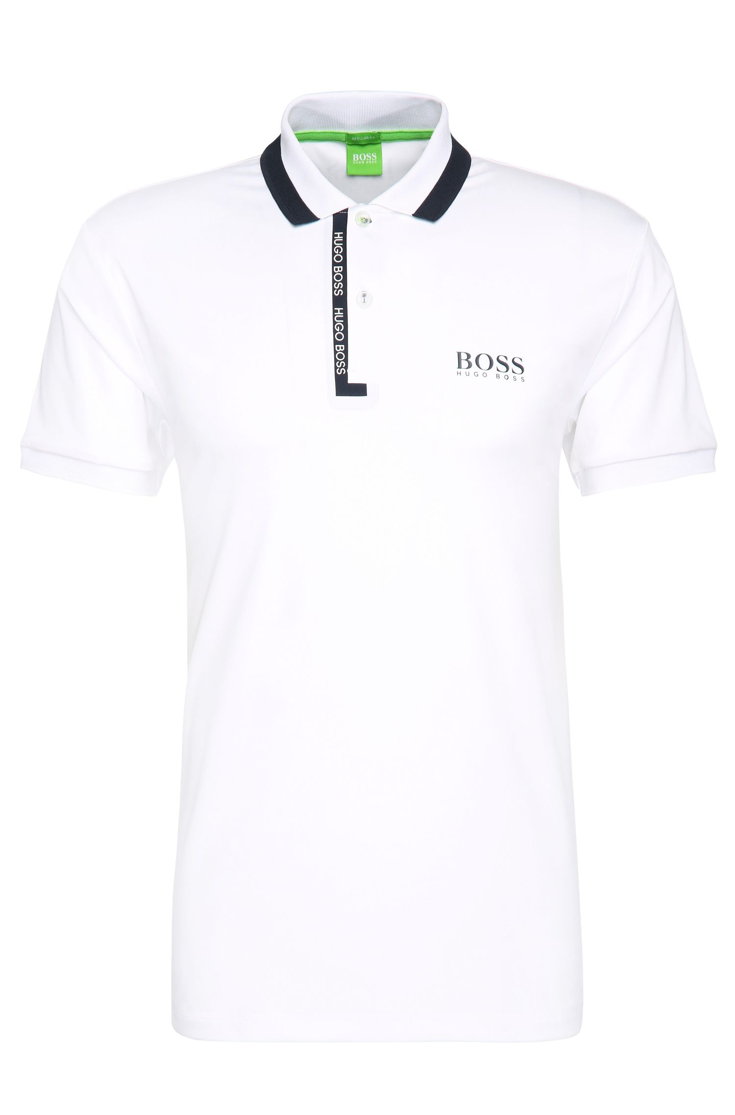 Regular-fit polo shirt in stretchy fabric blend: 'Paddy Pro 2'