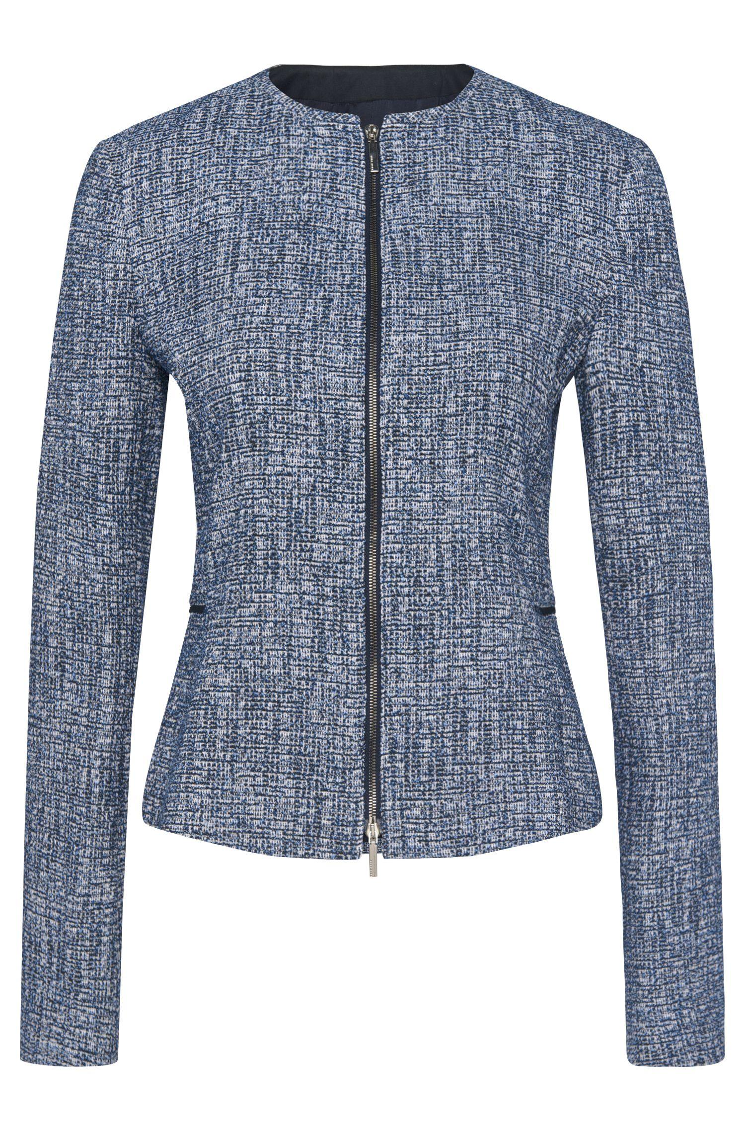 Bouclé blazer in a stretchy viscose blend: 'Karonita'