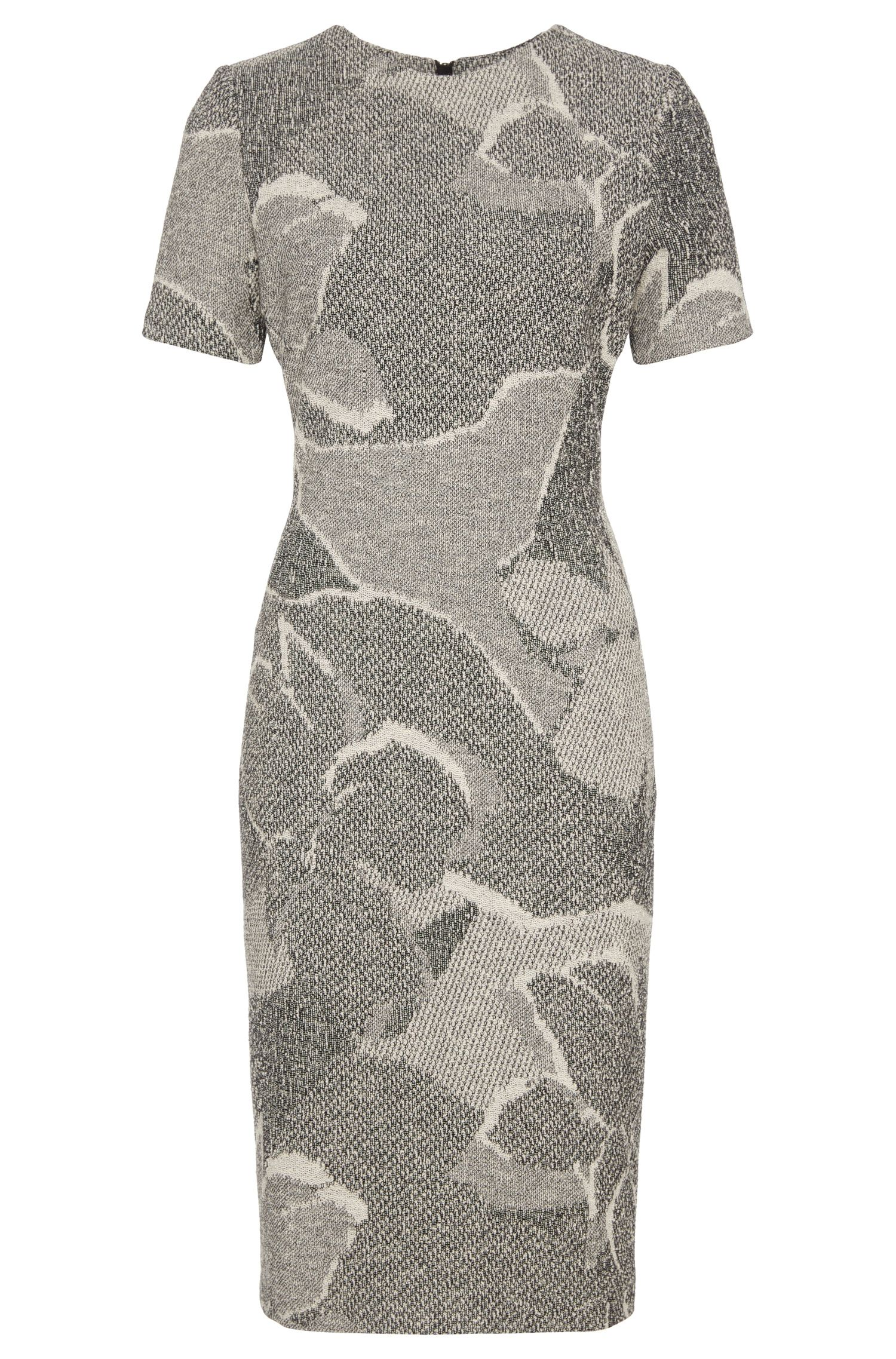 Patterned sheath dress in cotton blend: 'Haraly'