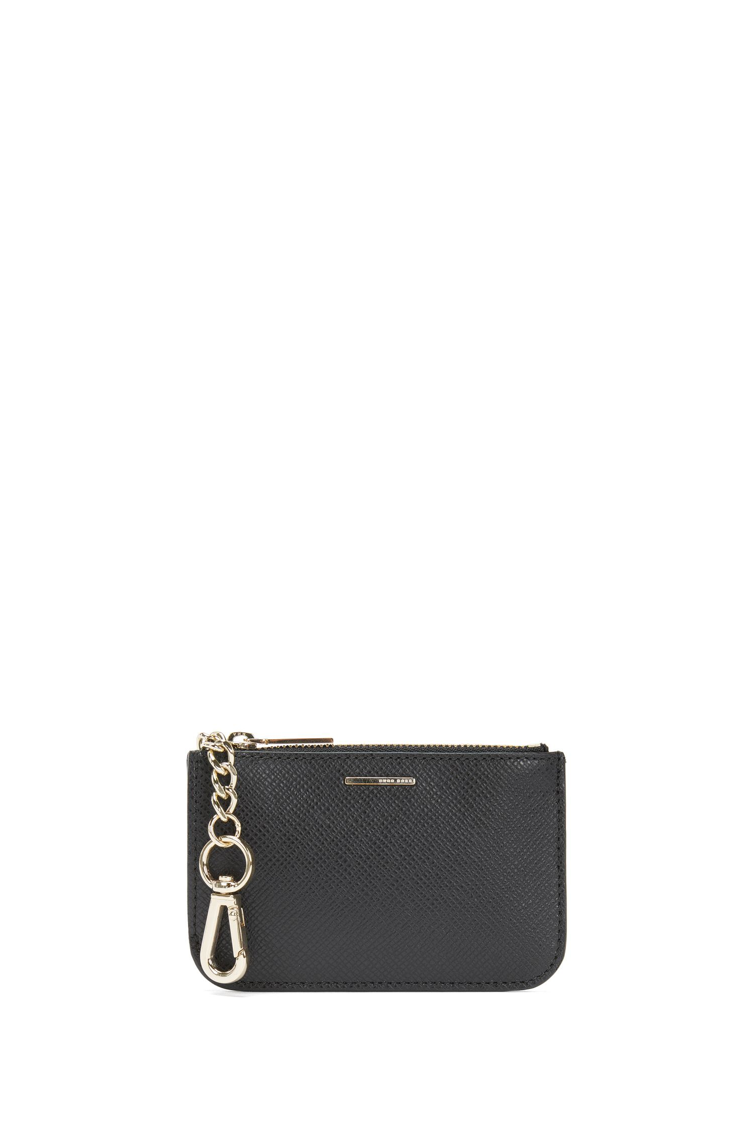 Key case in leather with Saffiano embossing: 'Staple Keyholder FPB'