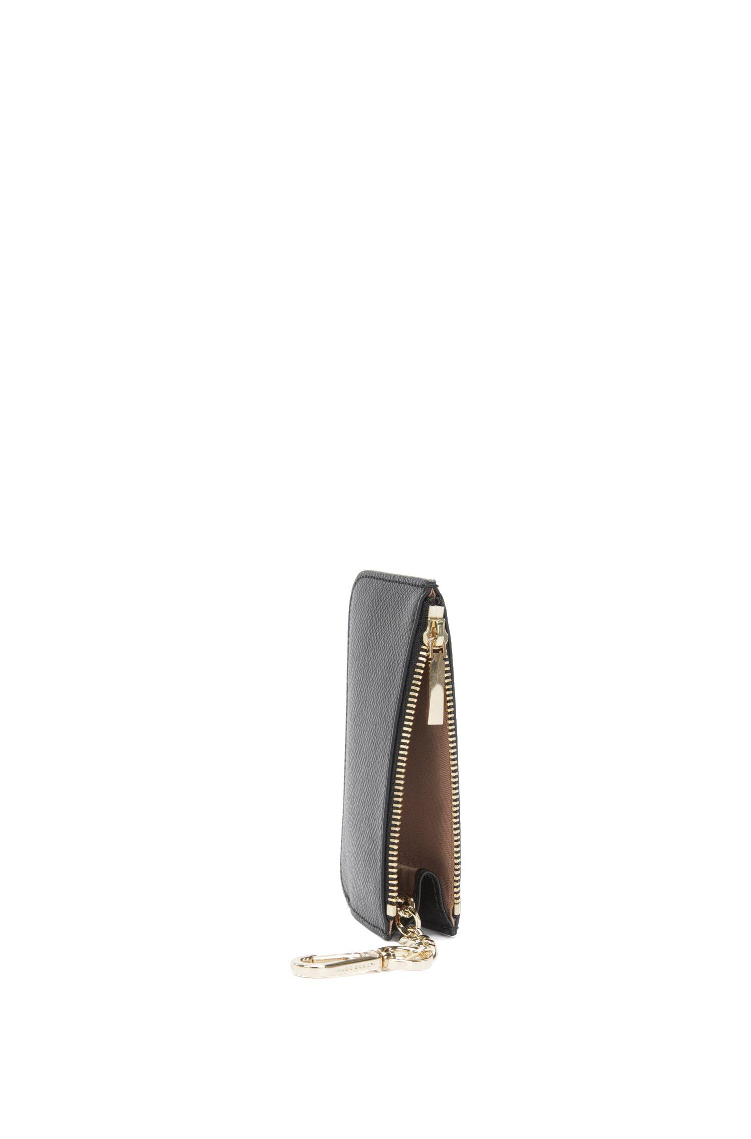 Étui porte-clés en cuir à la finition Saffiano gravée: «Staple Keyholder FPB»