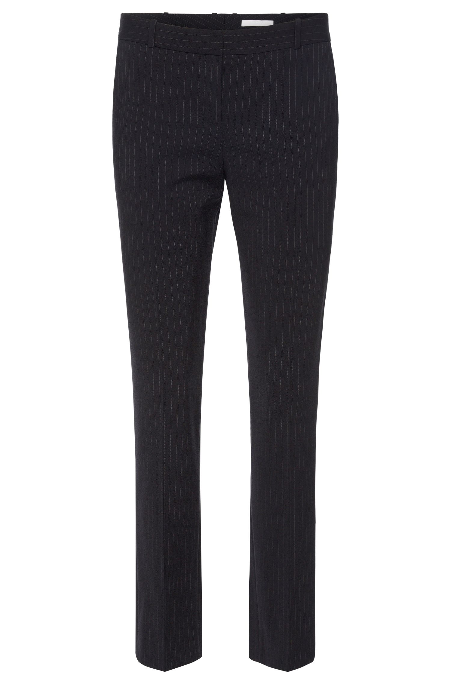Finely striped regular-fit trousers in a stretchy viscose blend with new wool: 'Tiluna7'