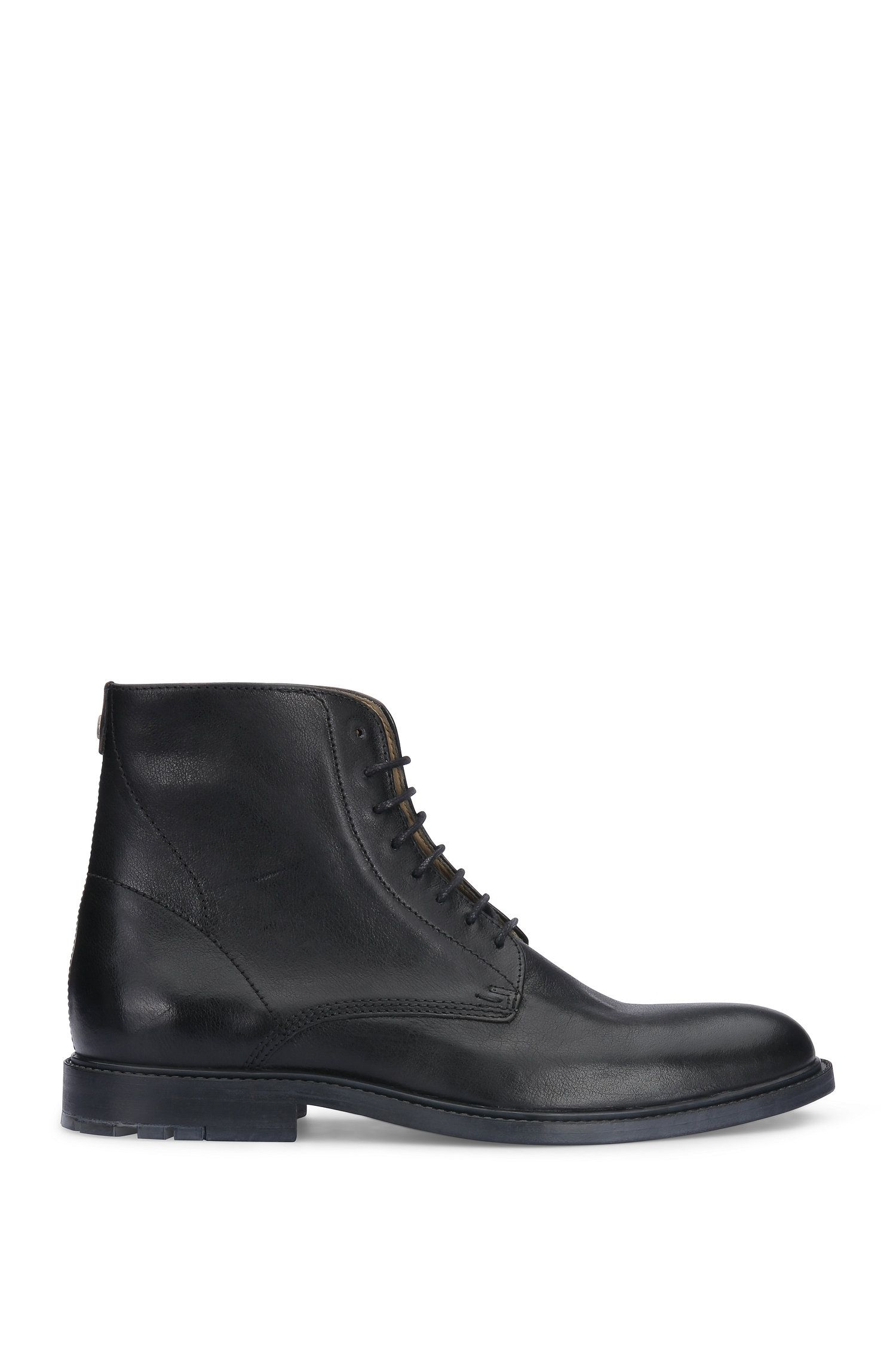 Leather boots with antiqued finish: 'Cultroot_Halb_ltws'