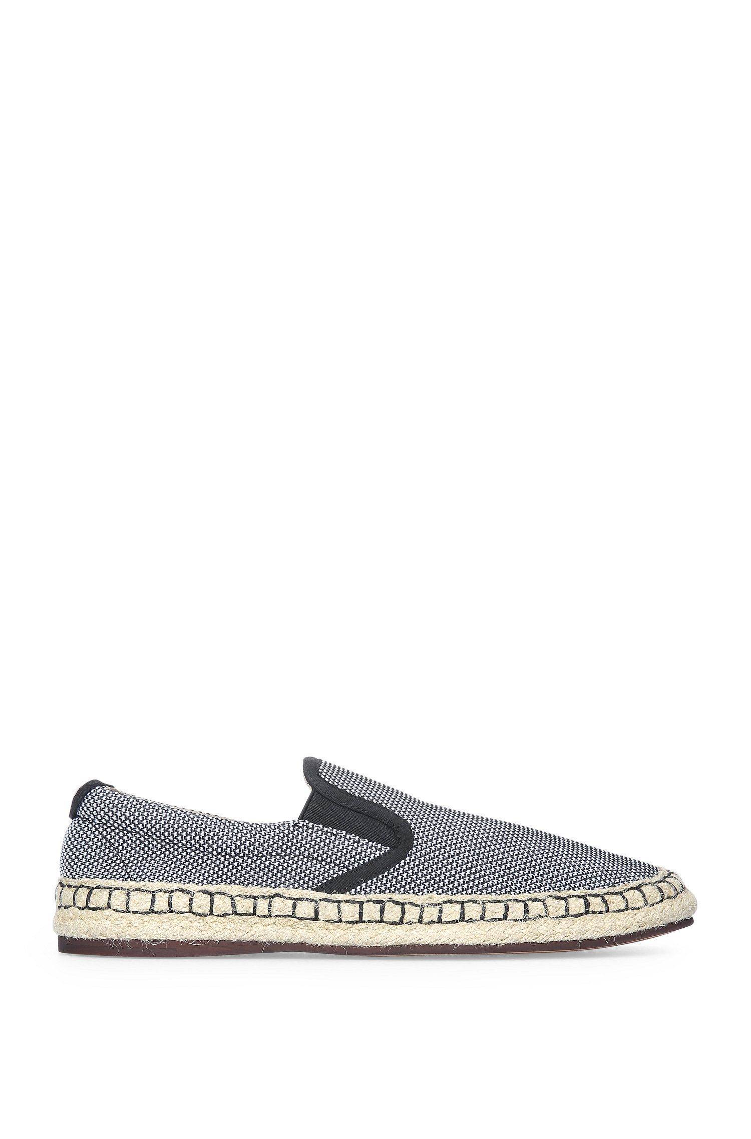 Slip-on sneakers van textiel met espadrille-finish: 'Anthem_Slon_ms'
