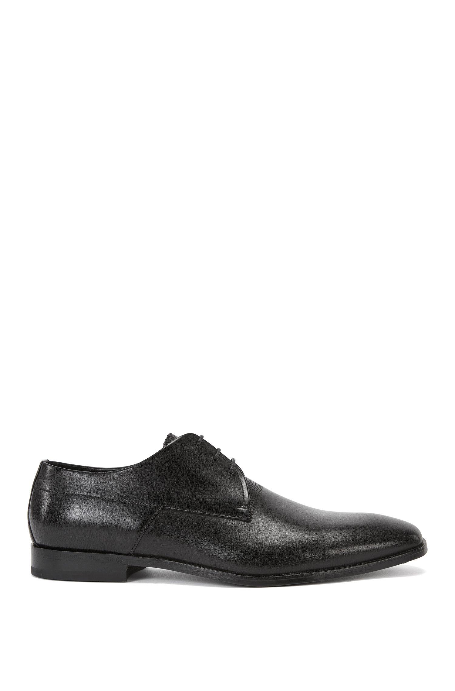 Zapatos con cordones en piel con lengüeta perforada: 'Square_Derb_srls'