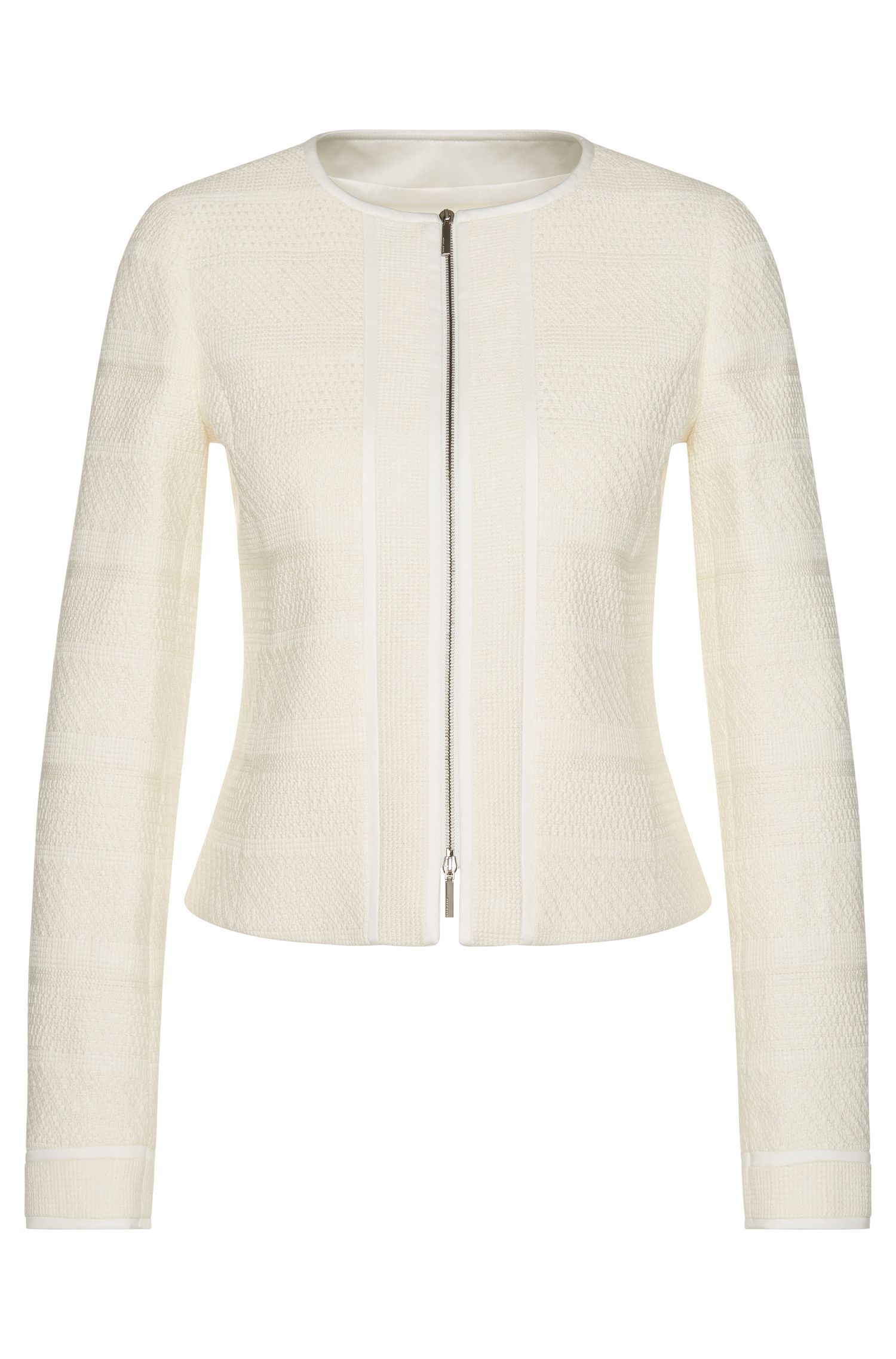 Blazer in a stretchy cotton blend with a 2-way zip: 'Koralie10'