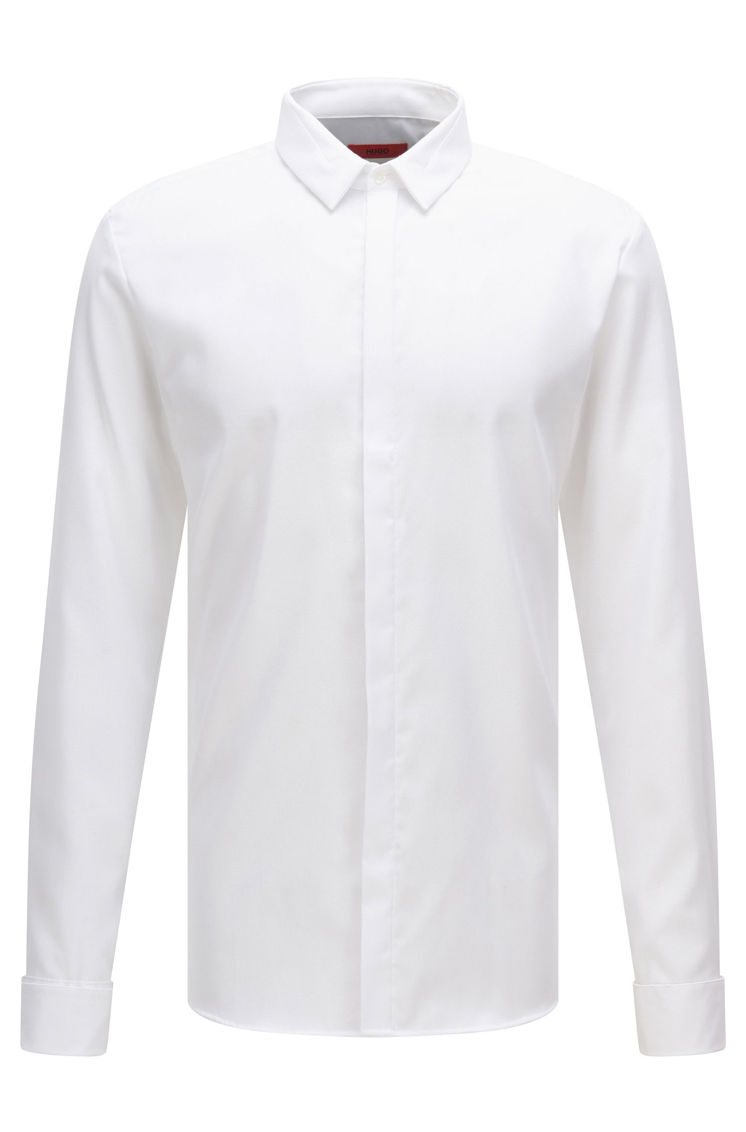 Extra slim-fit shirt in easy-iron cotton: 'Etris'