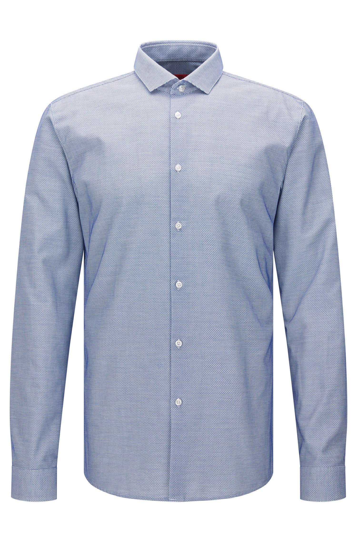 Gemustertes Extra Slim-Fit Hemd aus Baumwolle: 'Erondo'