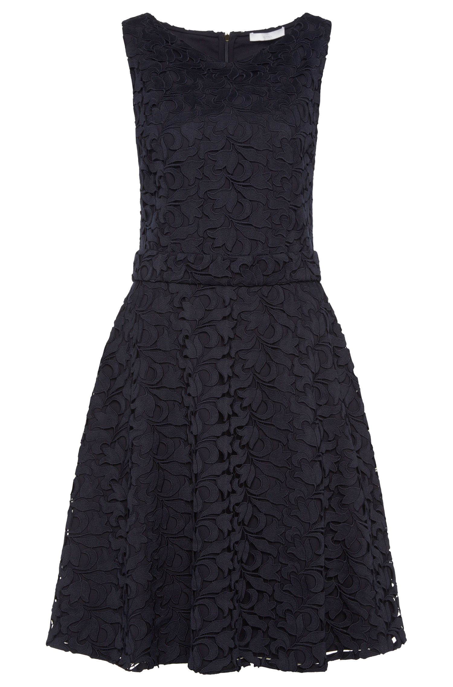 Mouwloze jurk in laagjeslook: 'Dyferana'