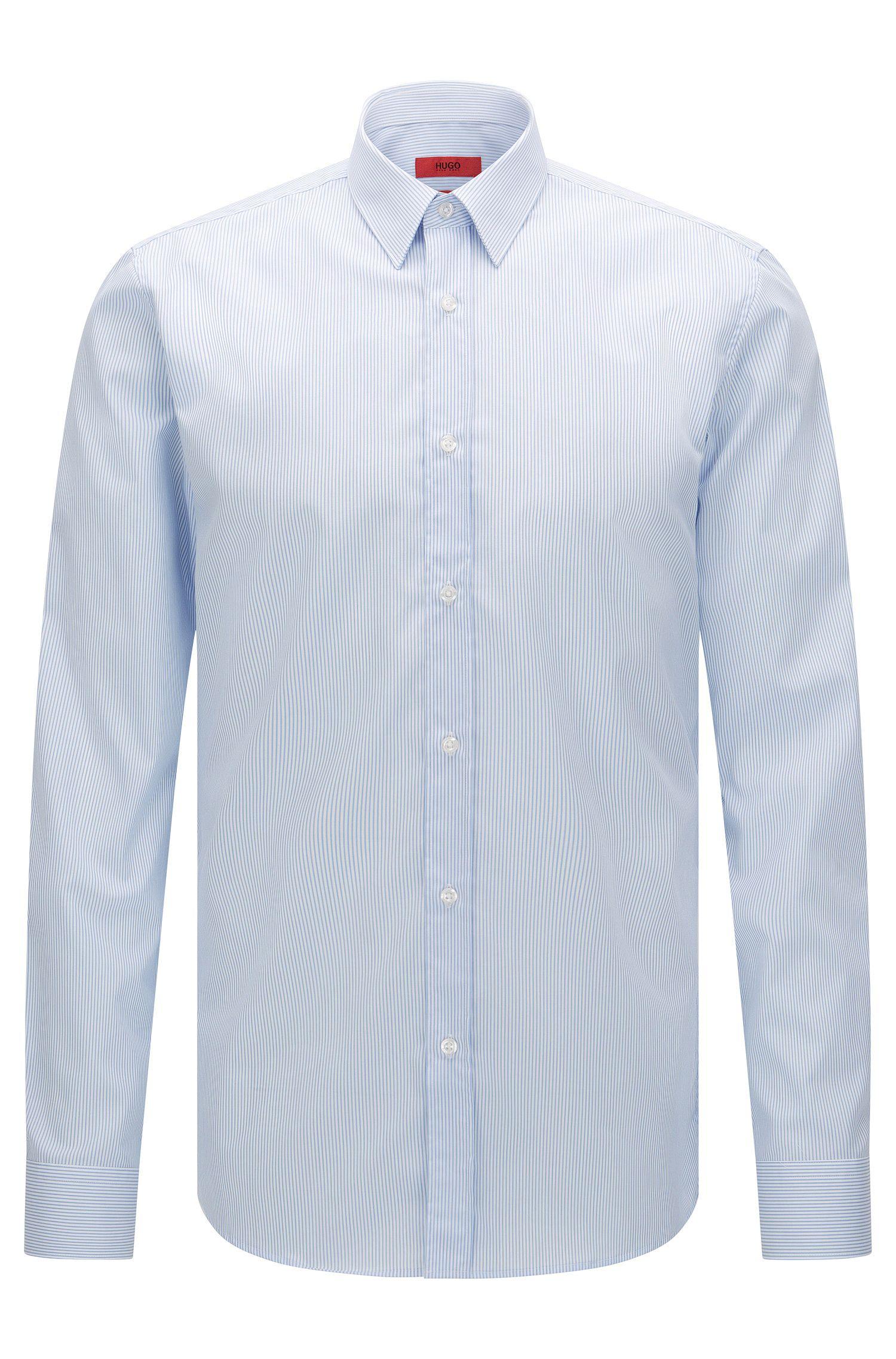 Camicia extra slim fit in cotone facile da stirare a righe: 'Elisha01'