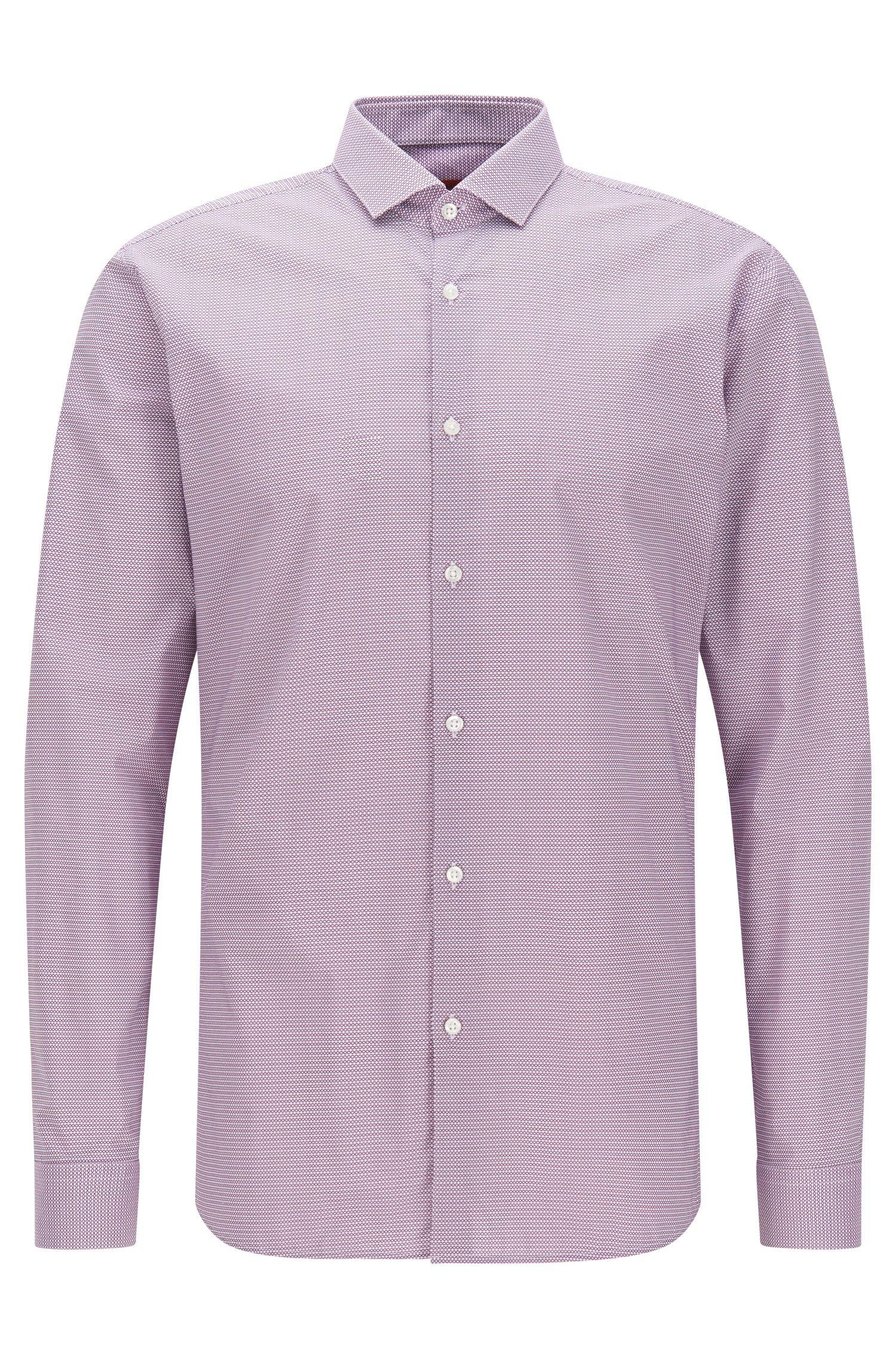 Camicia extra slim fit a disegni in cotone: 'Erondo'