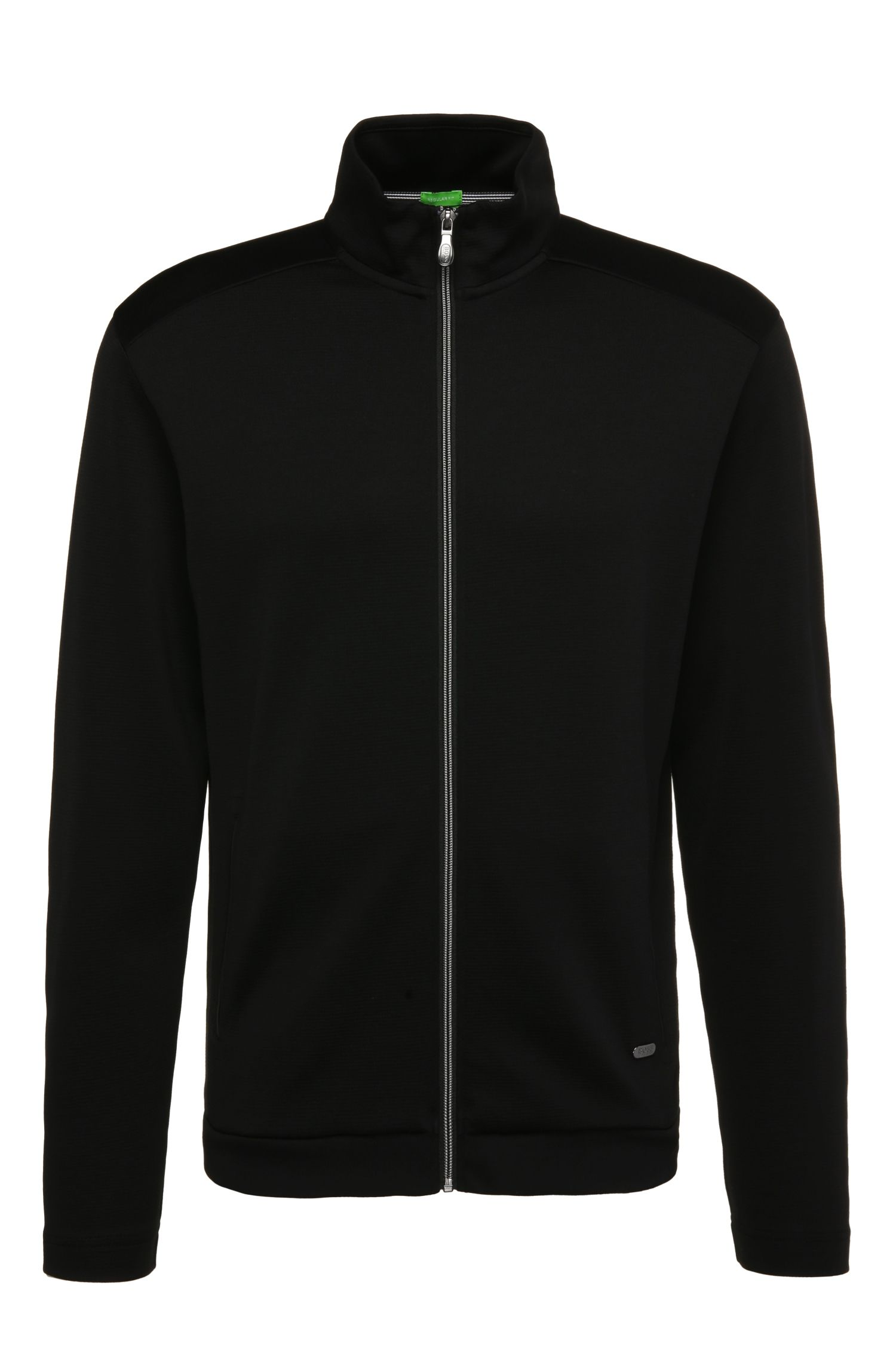 Regular-fit sweatshirt jacket in a cotton blend: 'C-Cannobio 2'