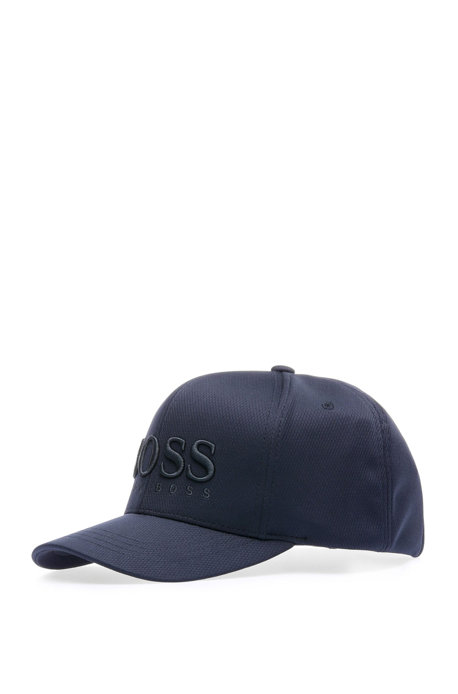 Cap in material blend with logo stitching: 'Cap-MK-1'