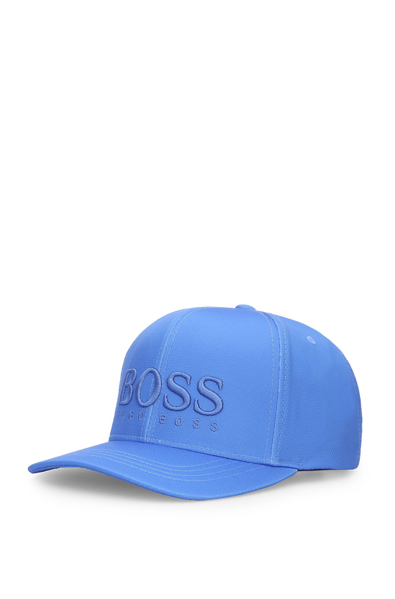 Cappellino in materiali misti con logo impunturato: 'Cap-MK-1'
